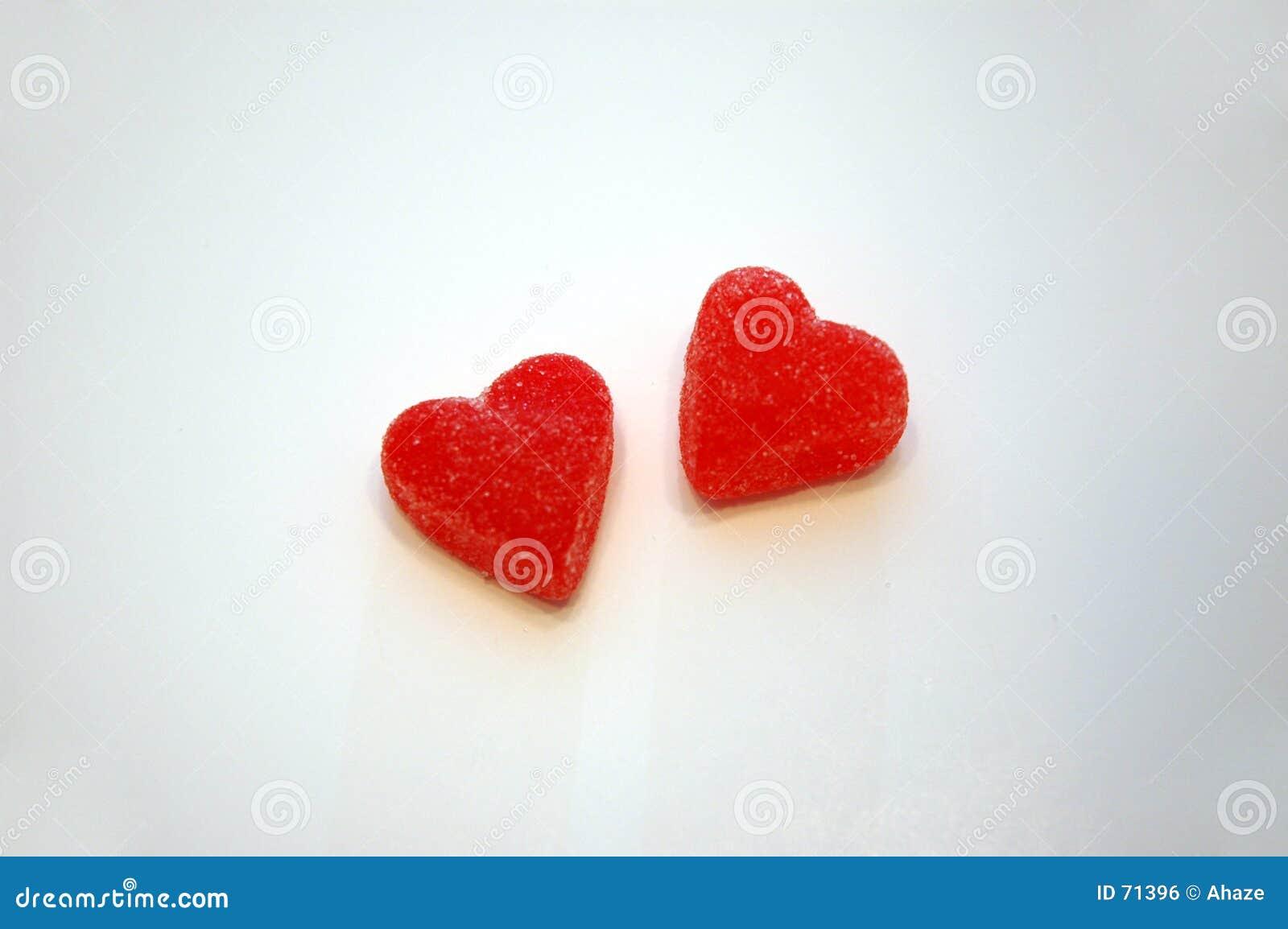 Het Suikergoed van het Hart van de Dag van de valentijnskaart