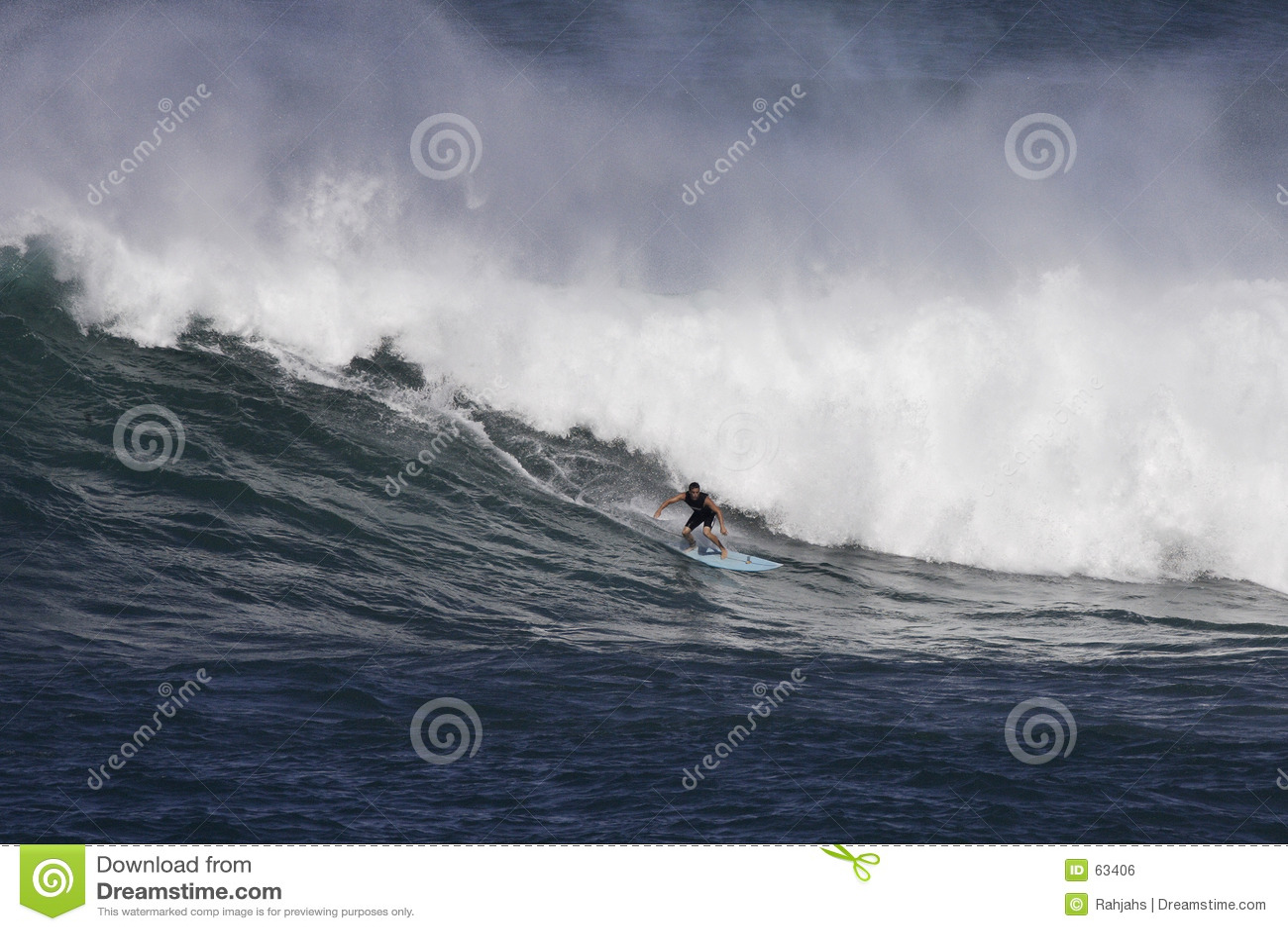 Het surfen Waimea