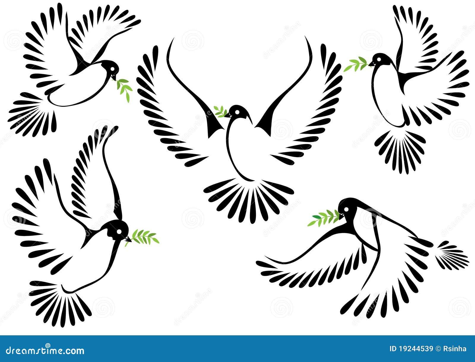 Bedwelming Het Symbool Van De Duif Van Vrede En Vrijheid Stock Illustratie #JG81