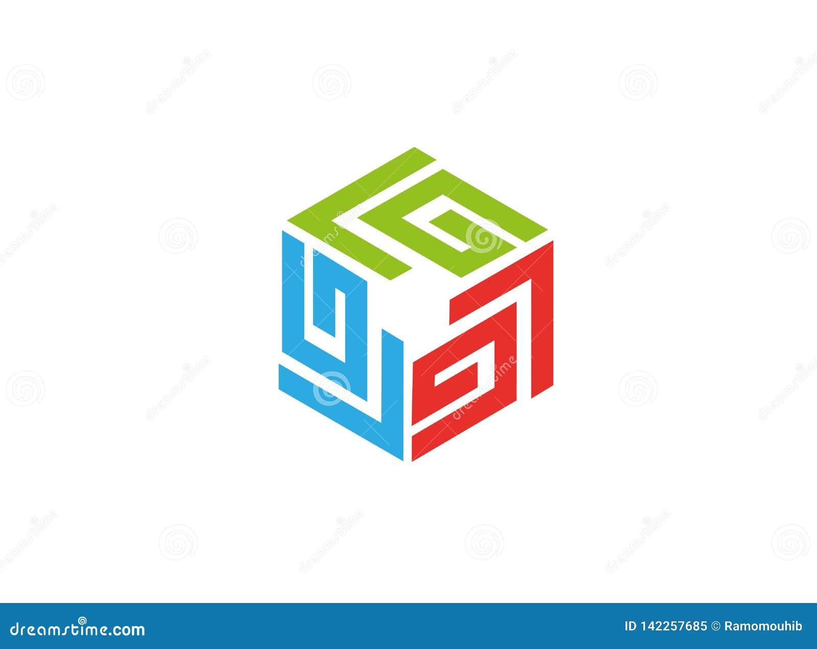 Het symbool van de labyrinttechnologie voor embleem