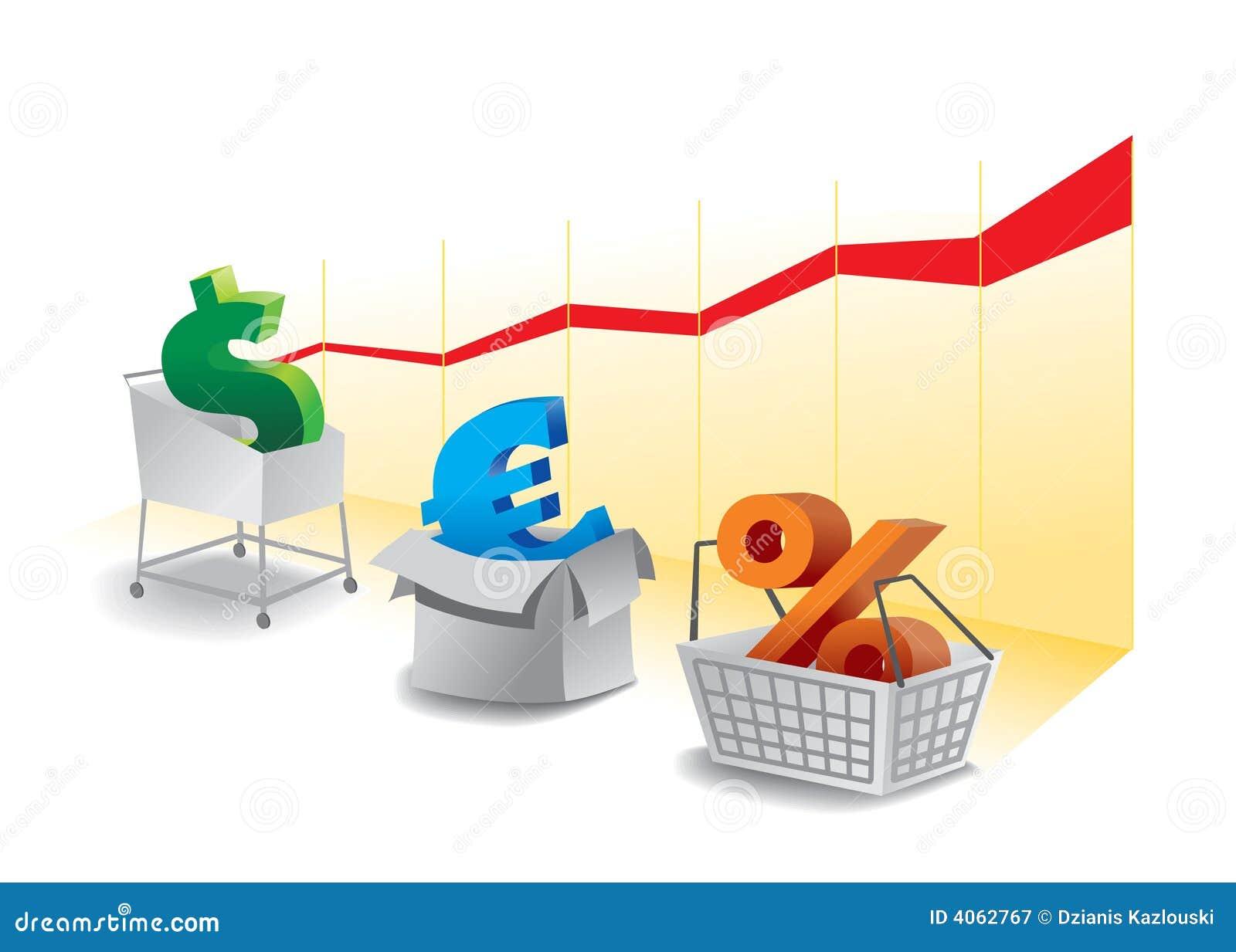 Het symbool van de markt