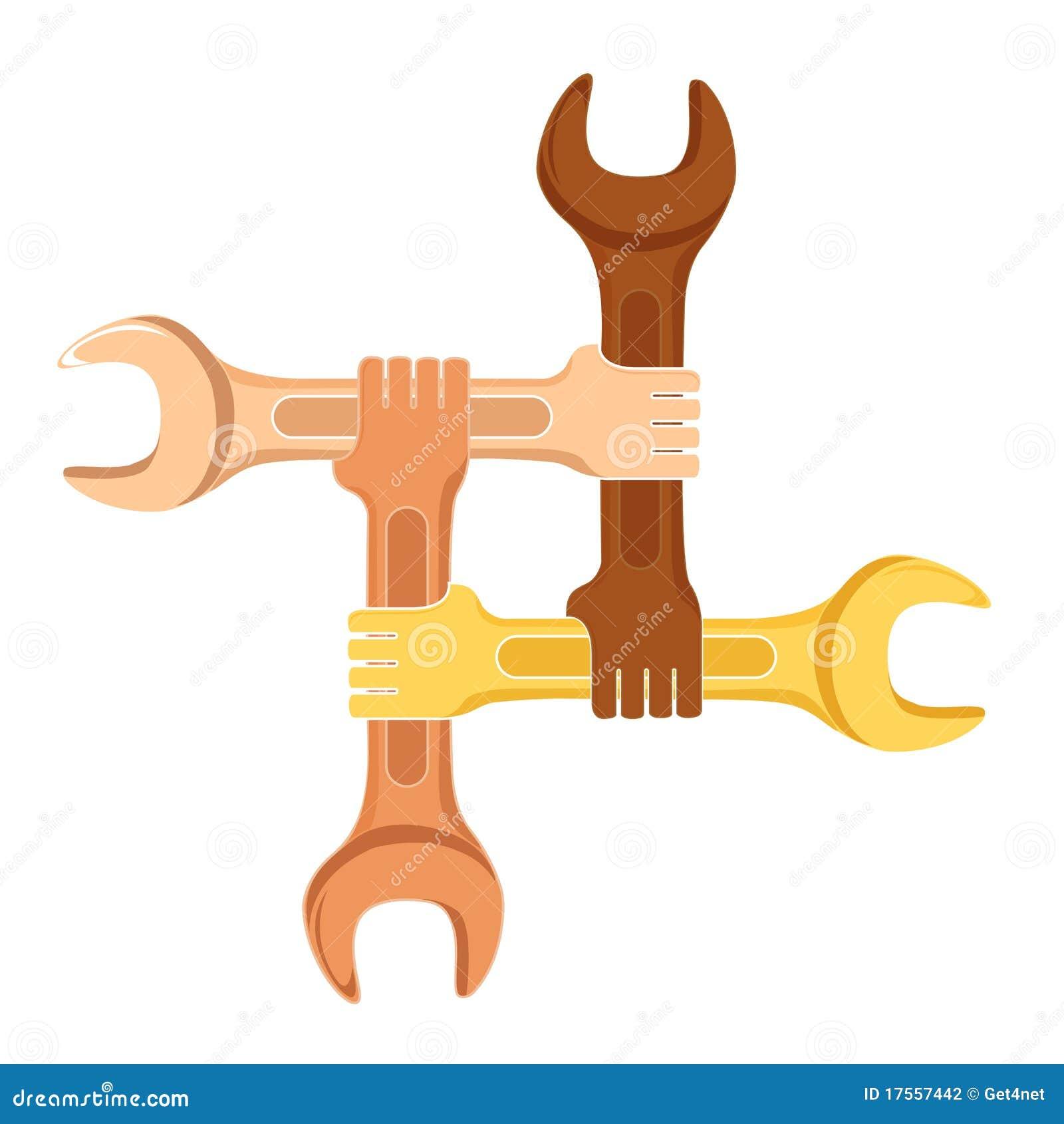 Het symbool van de samenwerking