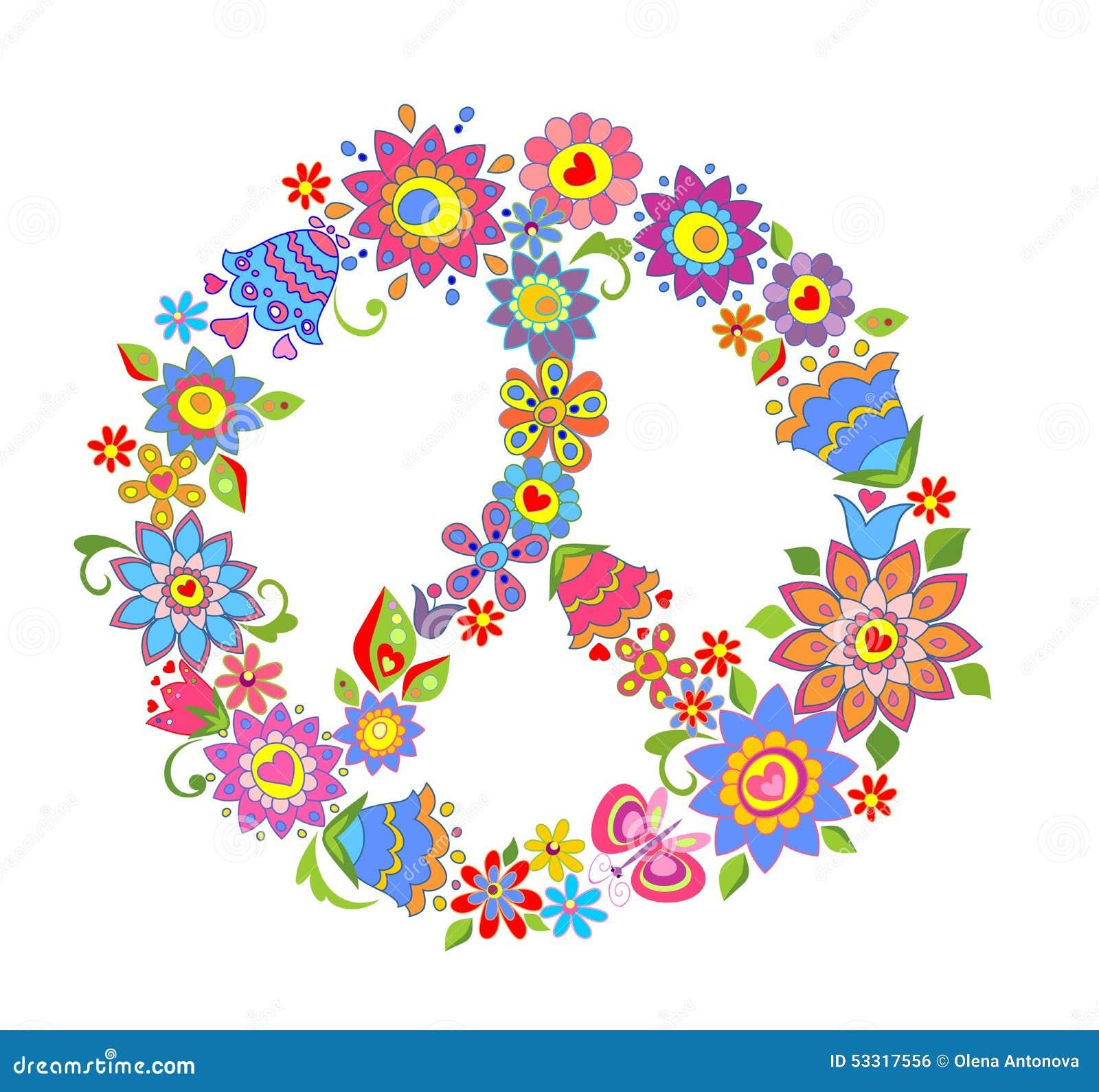 Het symbool van de vredesbloem