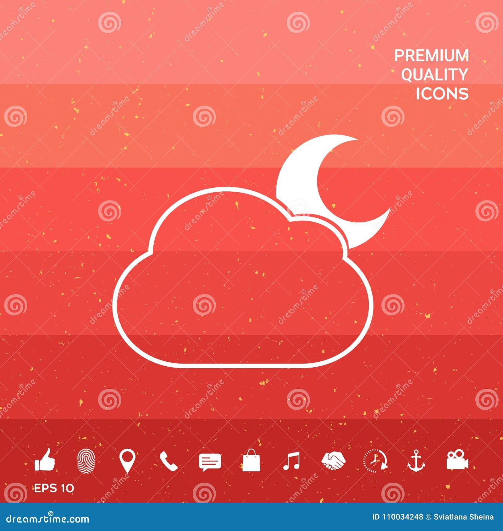 Het symbool van de wolkenmaan - pictogram