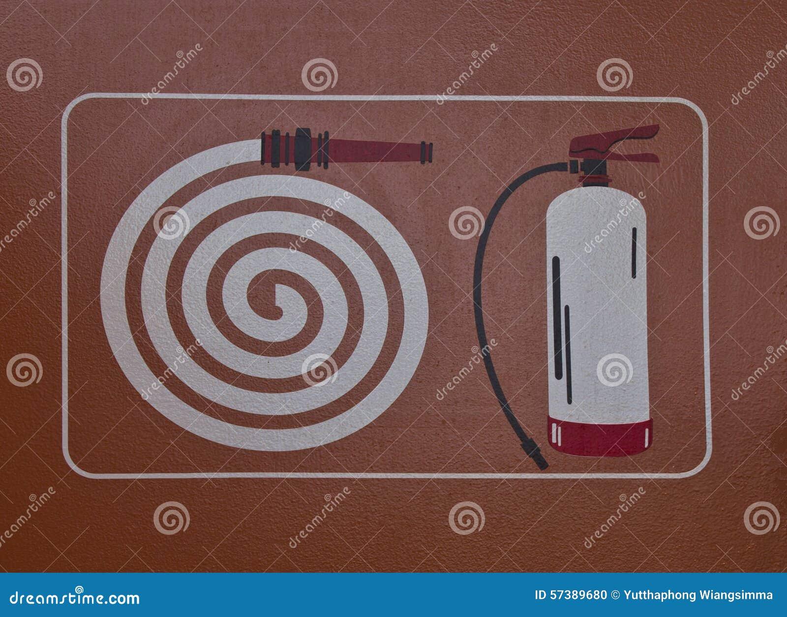 Het symbool van het brandslangkabinet