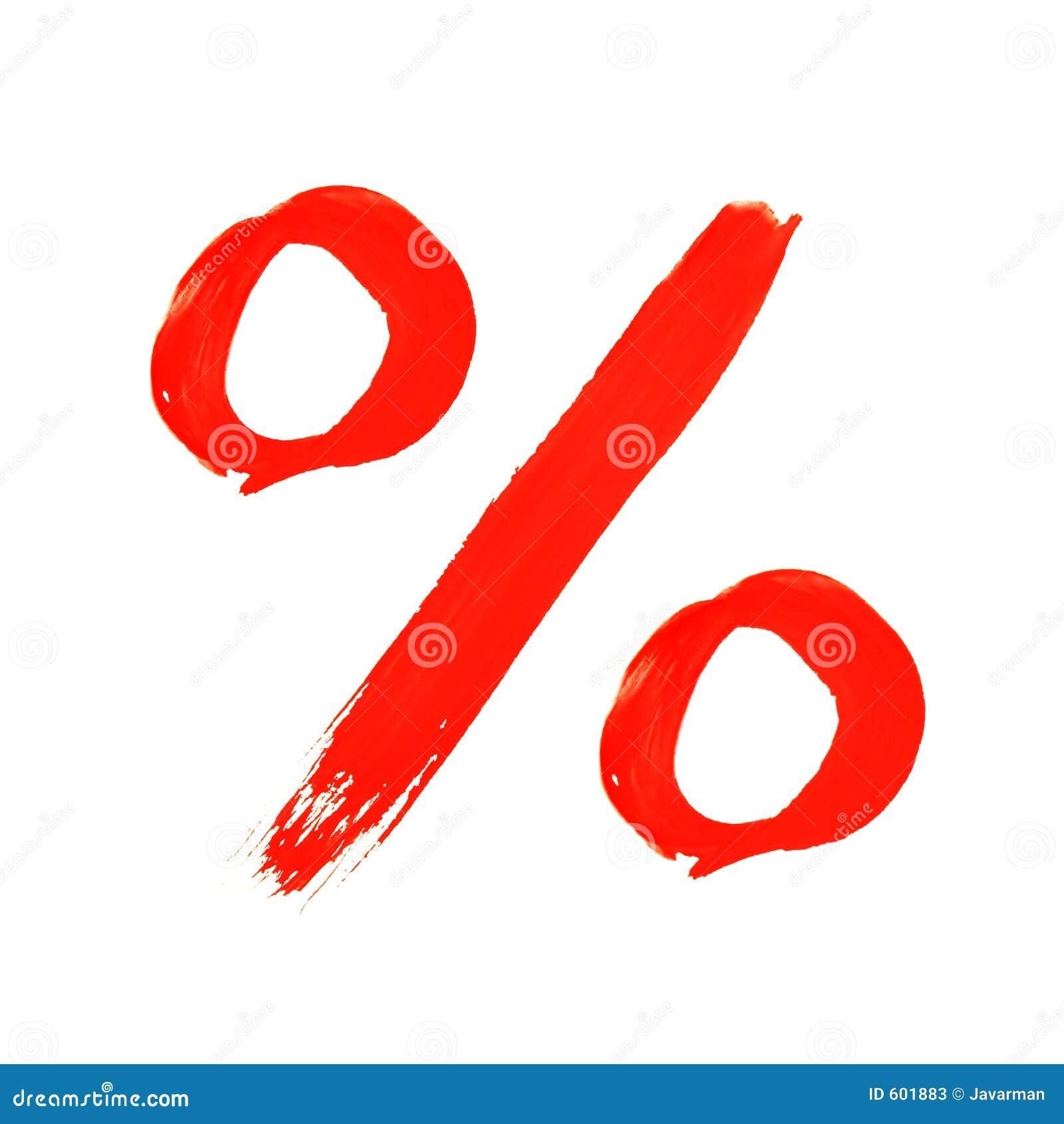 Het symbool van het percentage