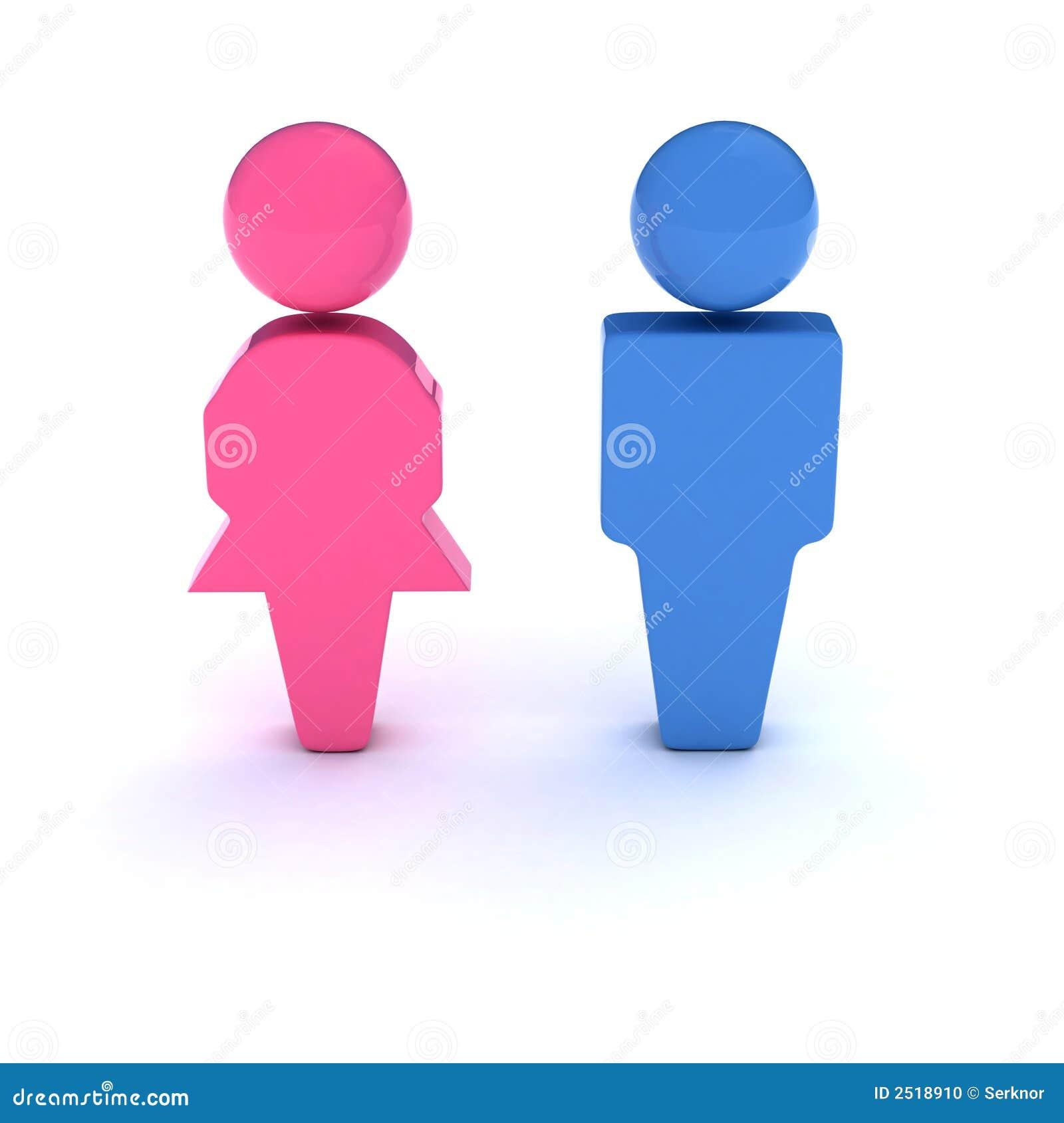 Het Symbool Van Mannen En Van Vrouwen Stock Foto - Afbeelding: 2518910