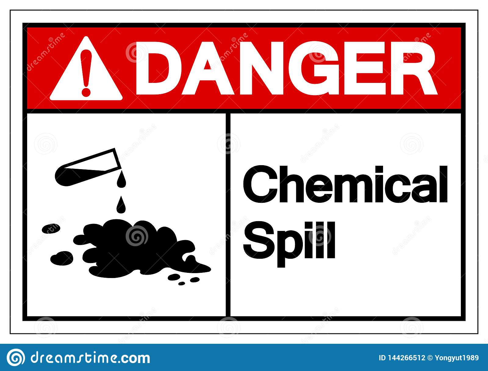 Het Symboolteken van de gevaars Chemisch Morserij, VectordieIllustratie, op Wit Etiket wordt geïsoleerd Als achtergrond EPS10