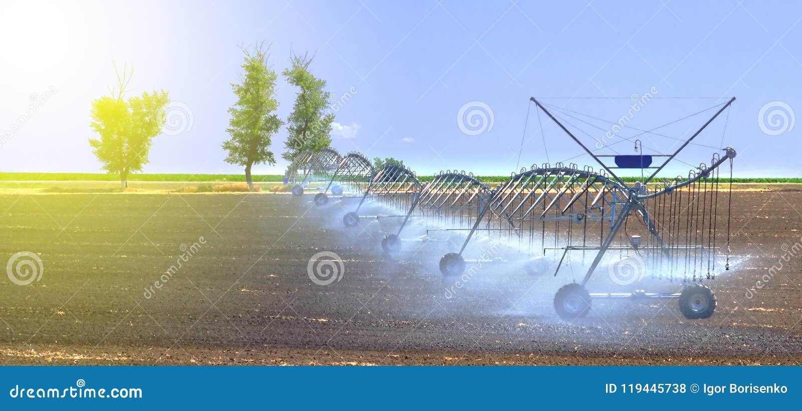 Het systeem van de gebiedsirrigatie voor de betere installatiegroei en het verdere cultuur en kweken van landbouwgewassen