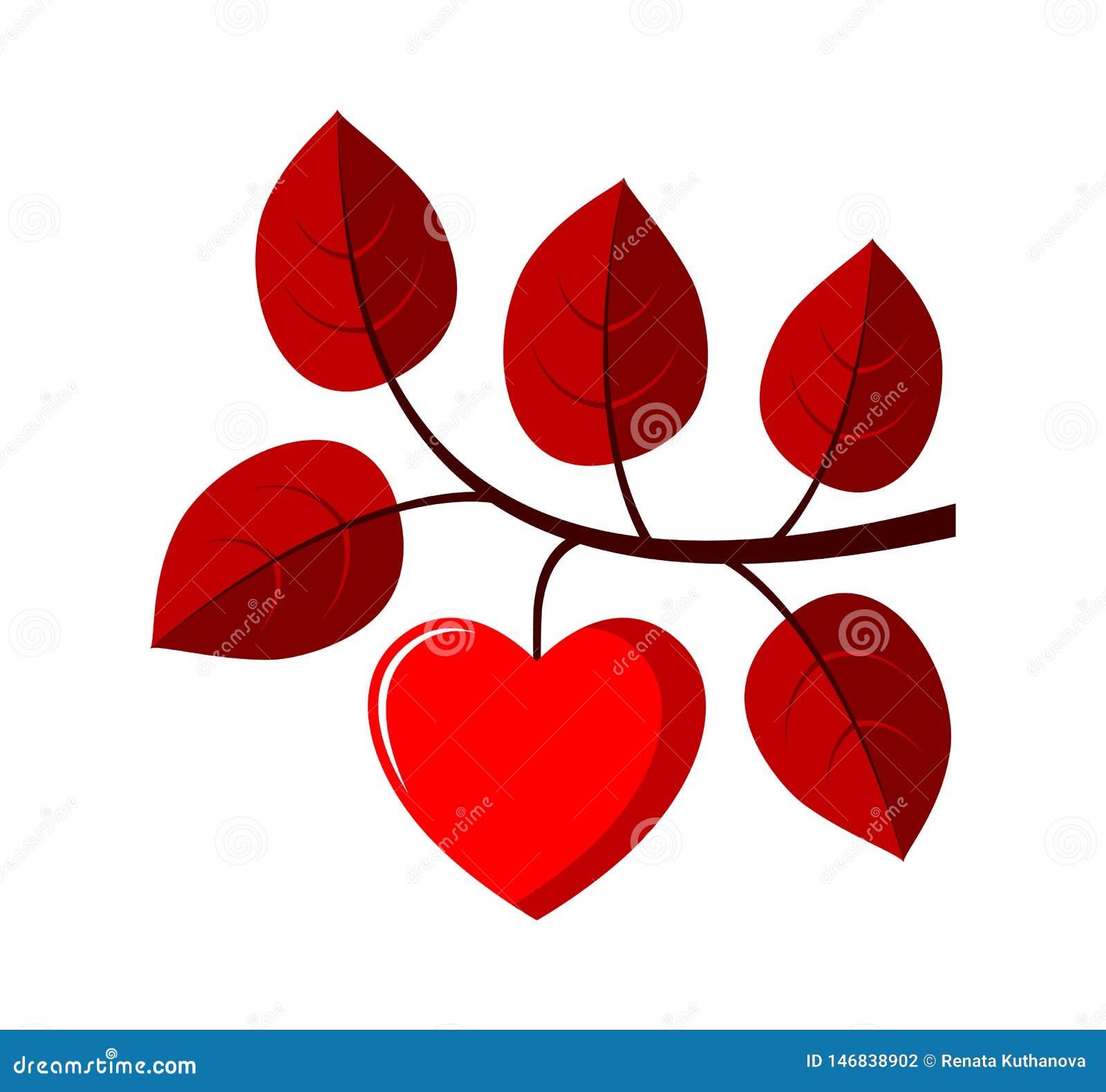 Het takje van de hartboom
