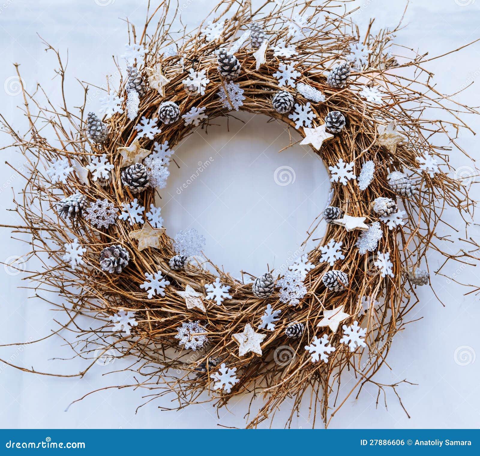 Het takjekroon van Kerstmis