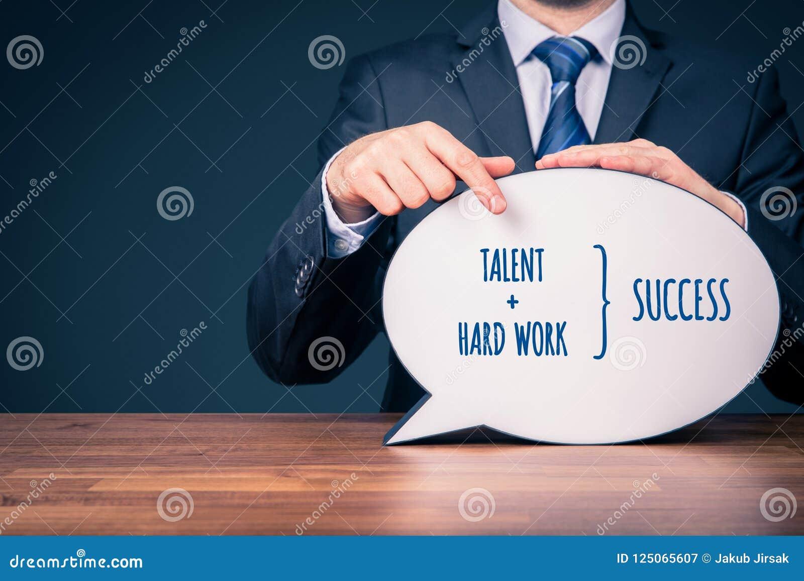 Het talent en het harde werk maken succes