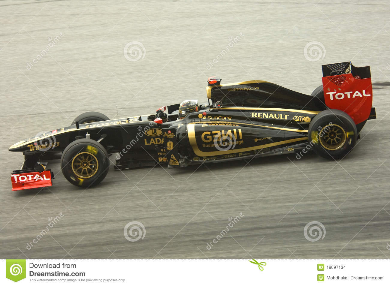 het team van lotusbloem renault formule 1 inkeping heidfeld redactionele stock afbeelding. Black Bedroom Furniture Sets. Home Design Ideas
