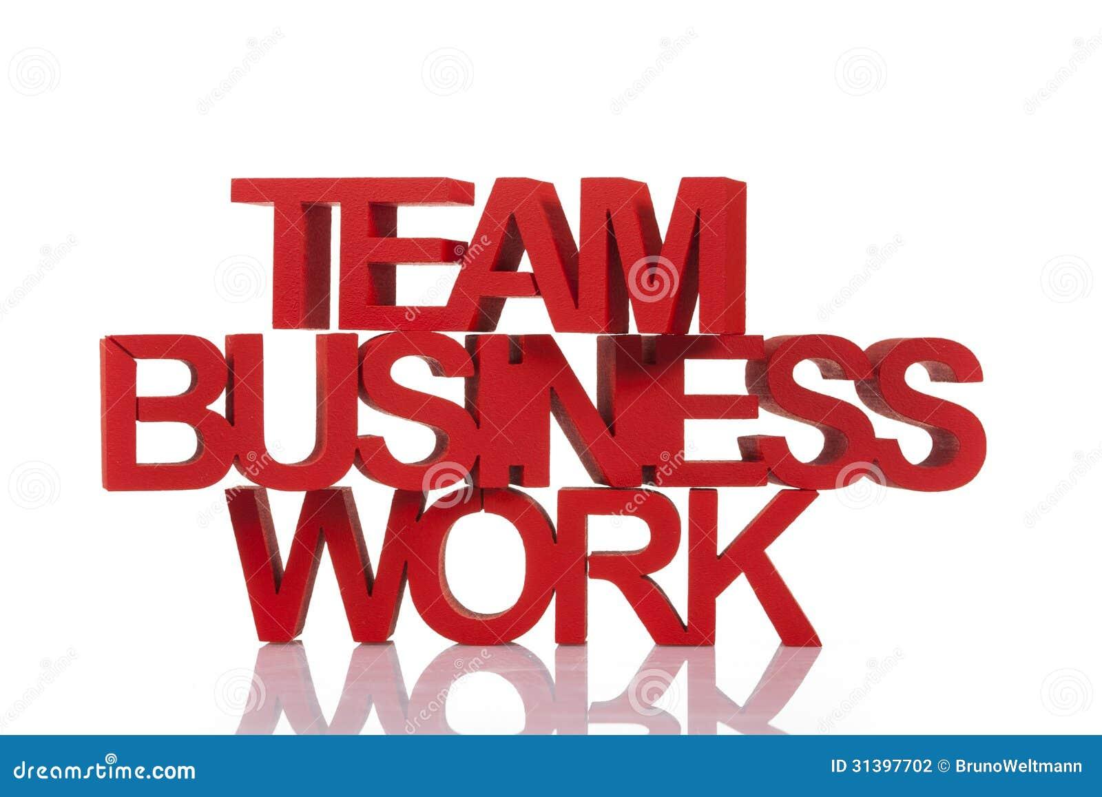 Het teamwerk in zaken