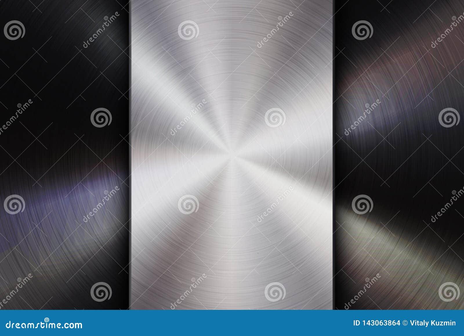Het technologiekenteken met Metaal borstelde Geweven Achtergrond