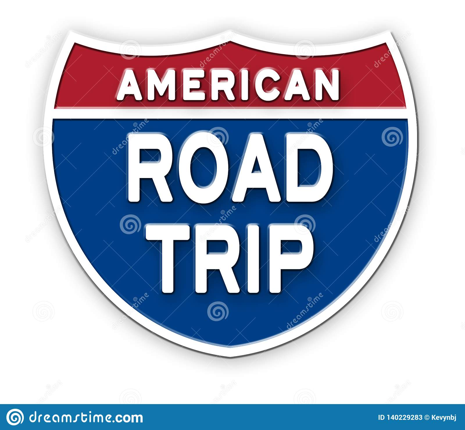 Het Teken Logo Art van Amerika van de wegreis