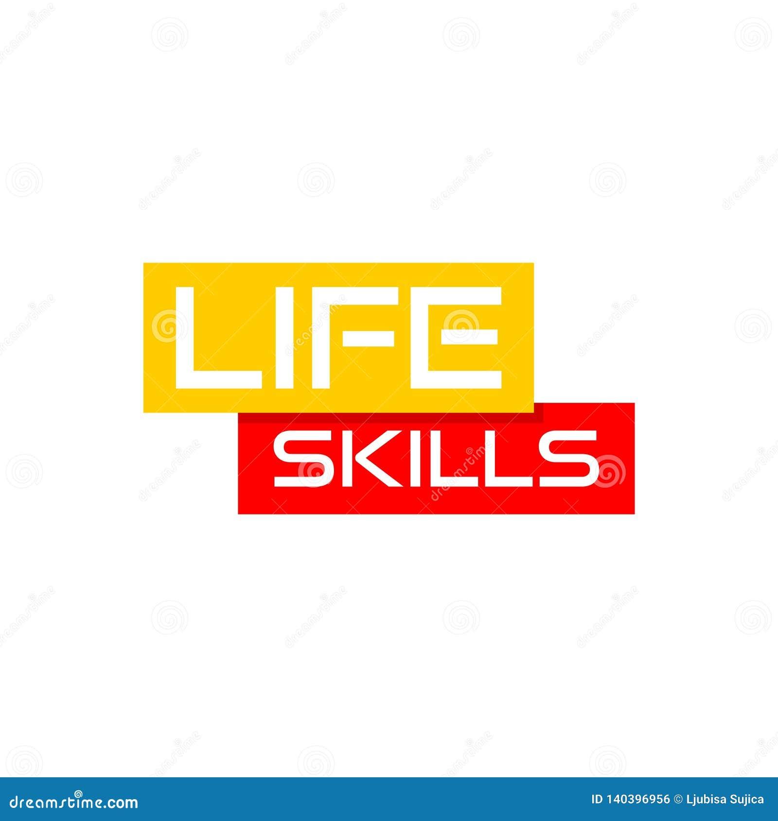 Het teken of het pictogram van het levensvaardigheden