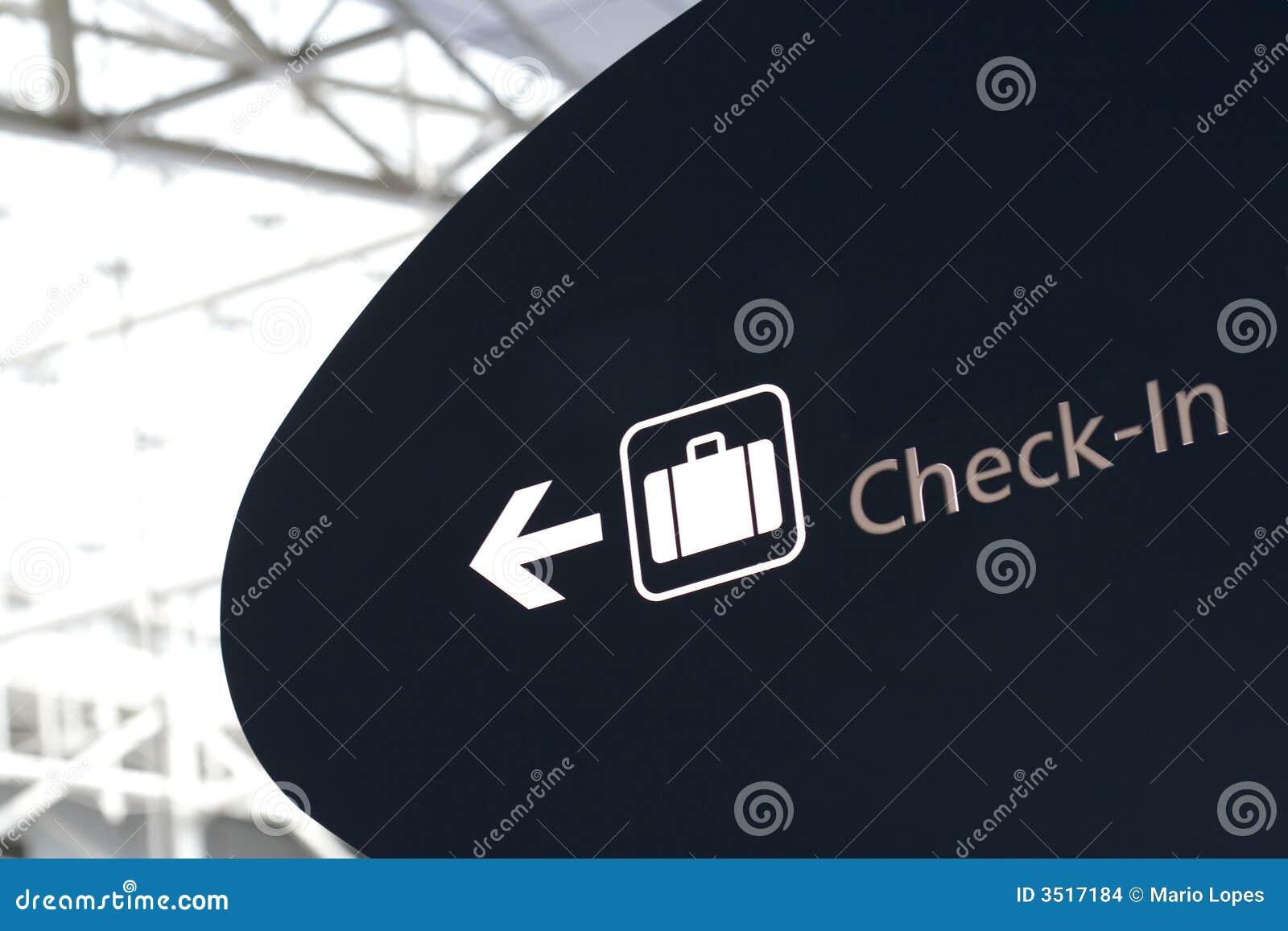 Het teken van de controle in luchthaven