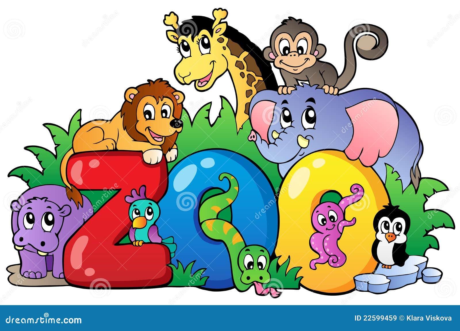 het teken van de dierentuin met diverse dieren vector zoo animal clip art outlines zoo animal clip art images