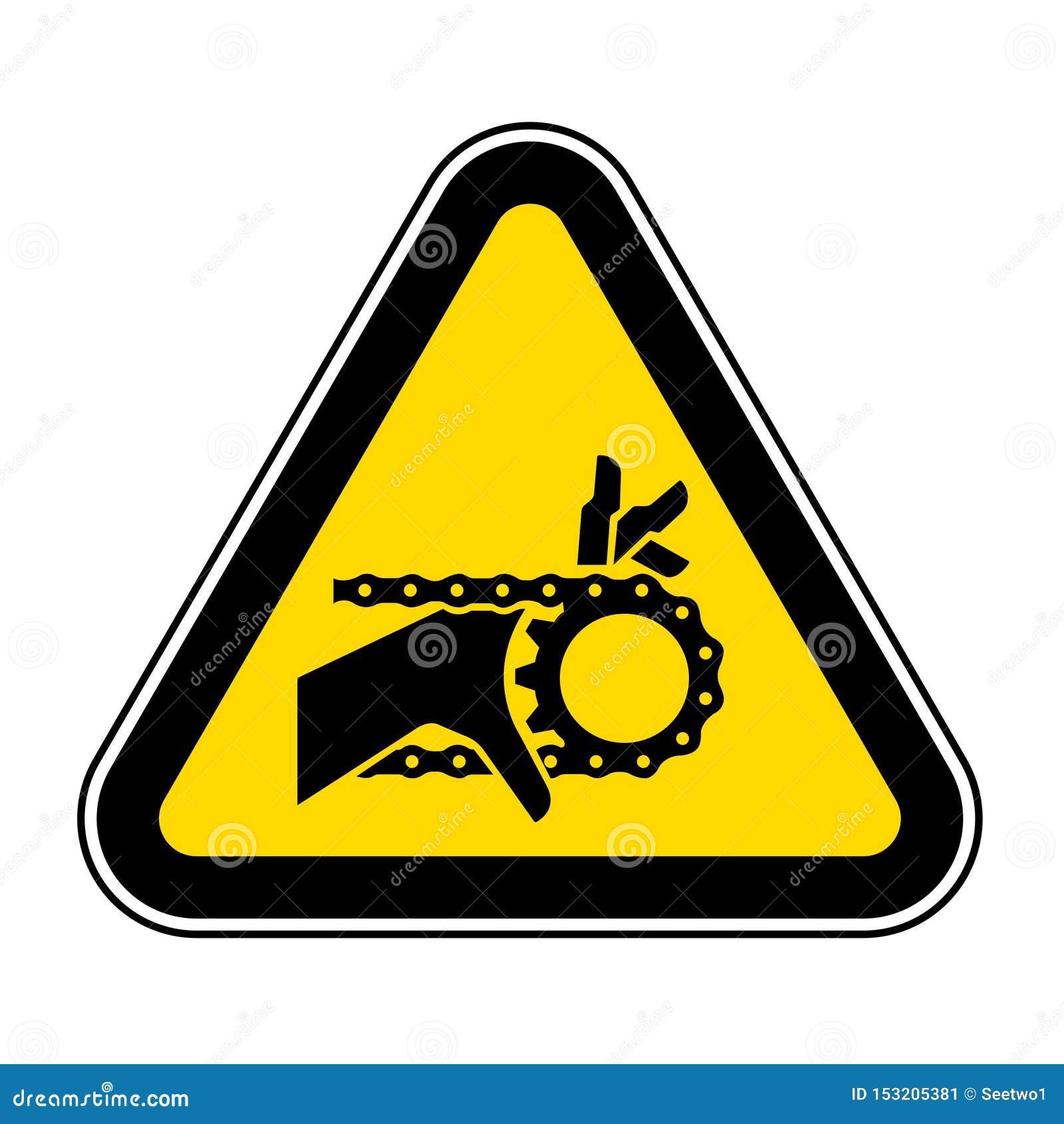 Het Teken van het de Kettingoverbrengingssymbool van de handverwarring, Vectorillustratie, isoleert op Wit Etiket Als achtergrond