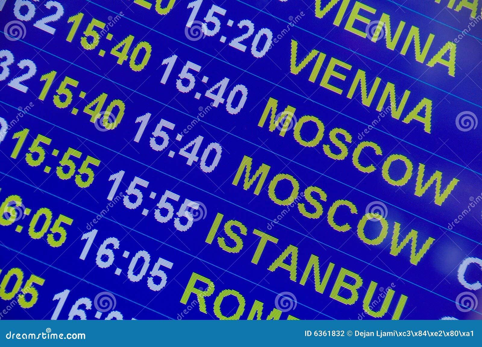 Het teken van de luchthaven - de Informatie van de Vlucht