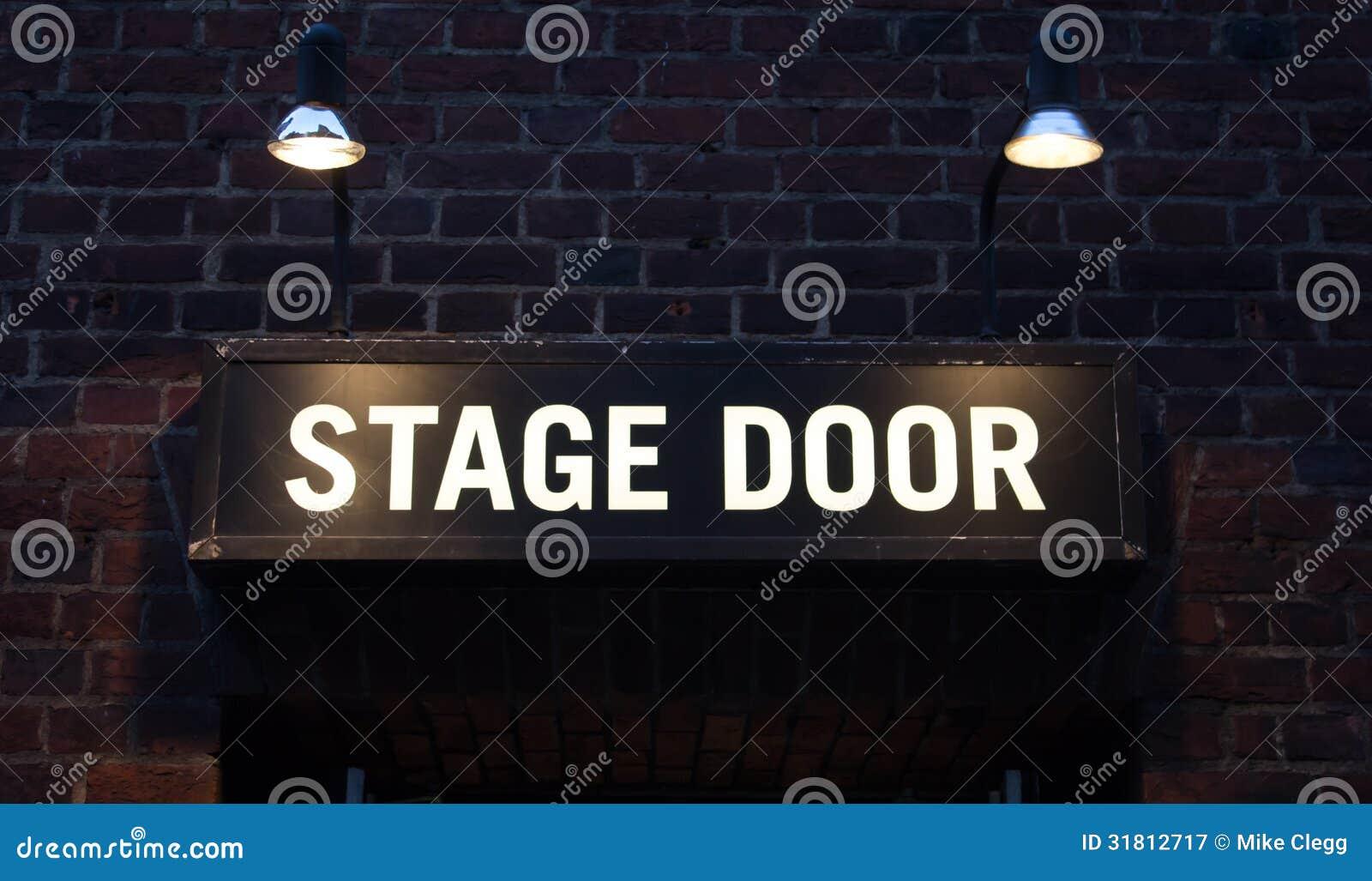 Het teken van de stadiumdeur