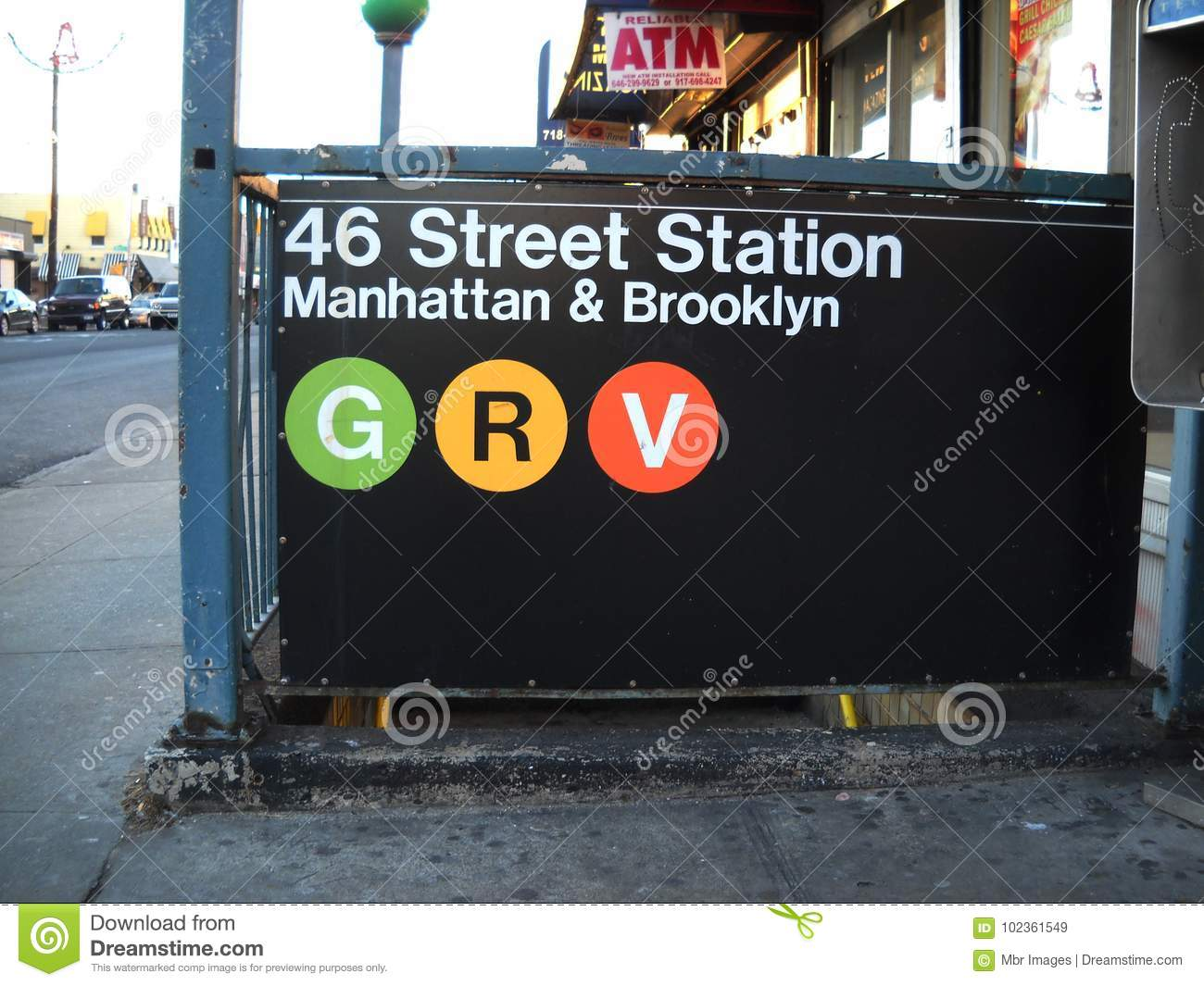 Het Teken van de de Stadsmetro van New York in Queens New York