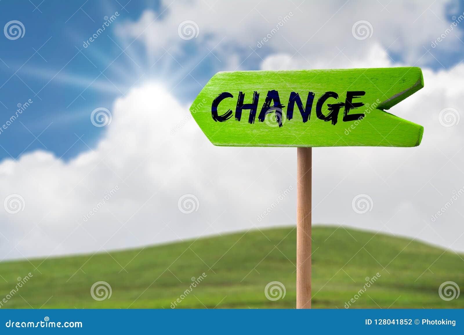 Het teken van de veranderingspijl