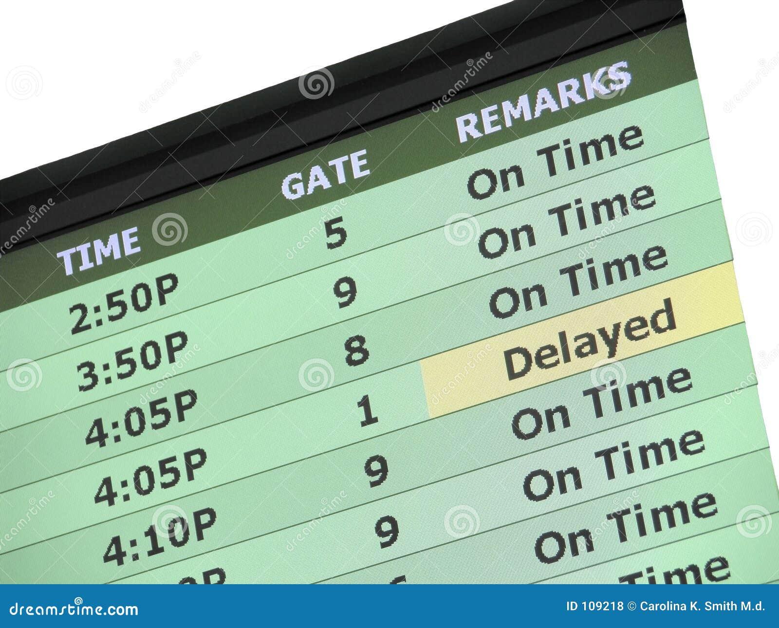 Het Teken van de Vertraging van de luchthaven