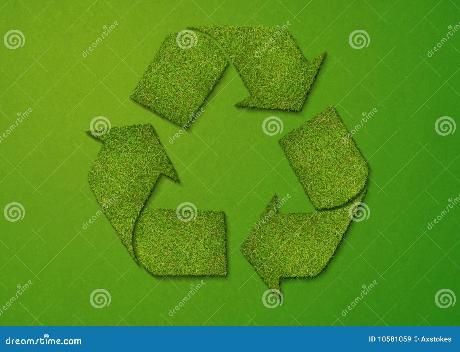 Het Teken van het Recycling van het gras