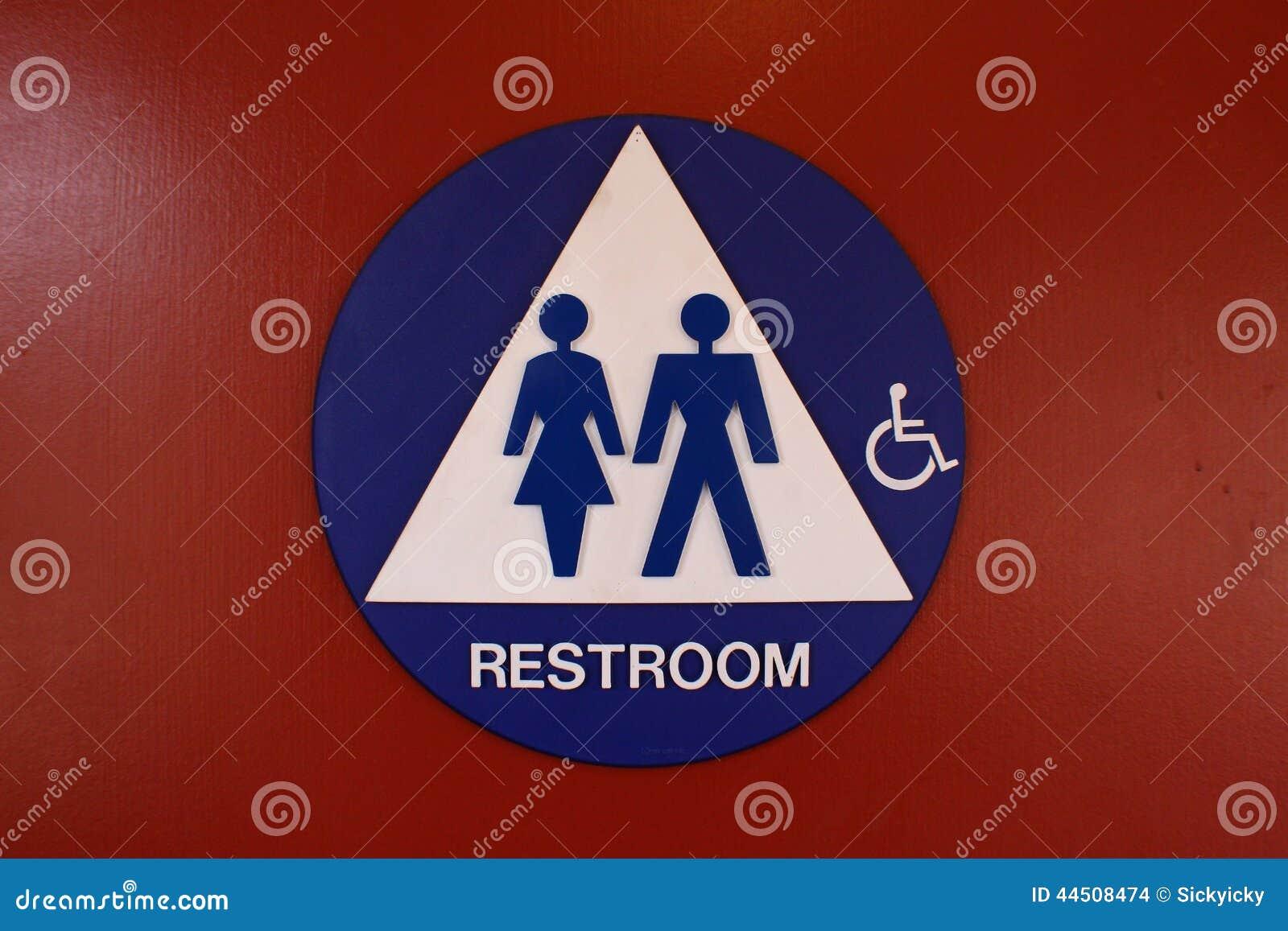 Het Teken van het toilet