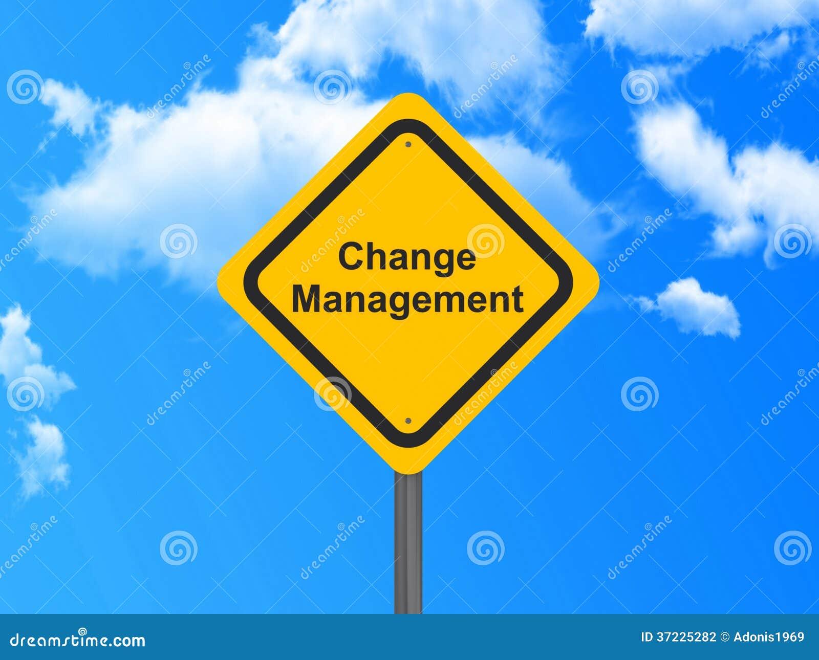 Het teken van het veranderingsbeheer