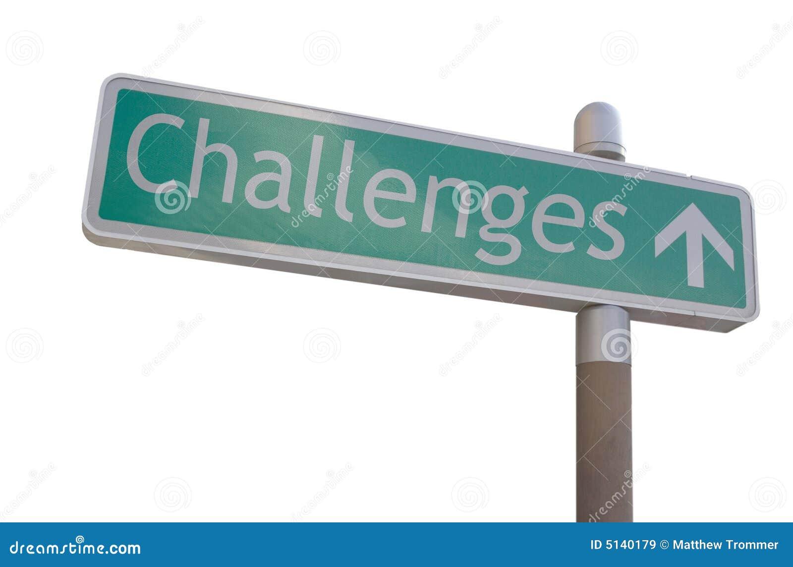 Het Teken van uitdagingen