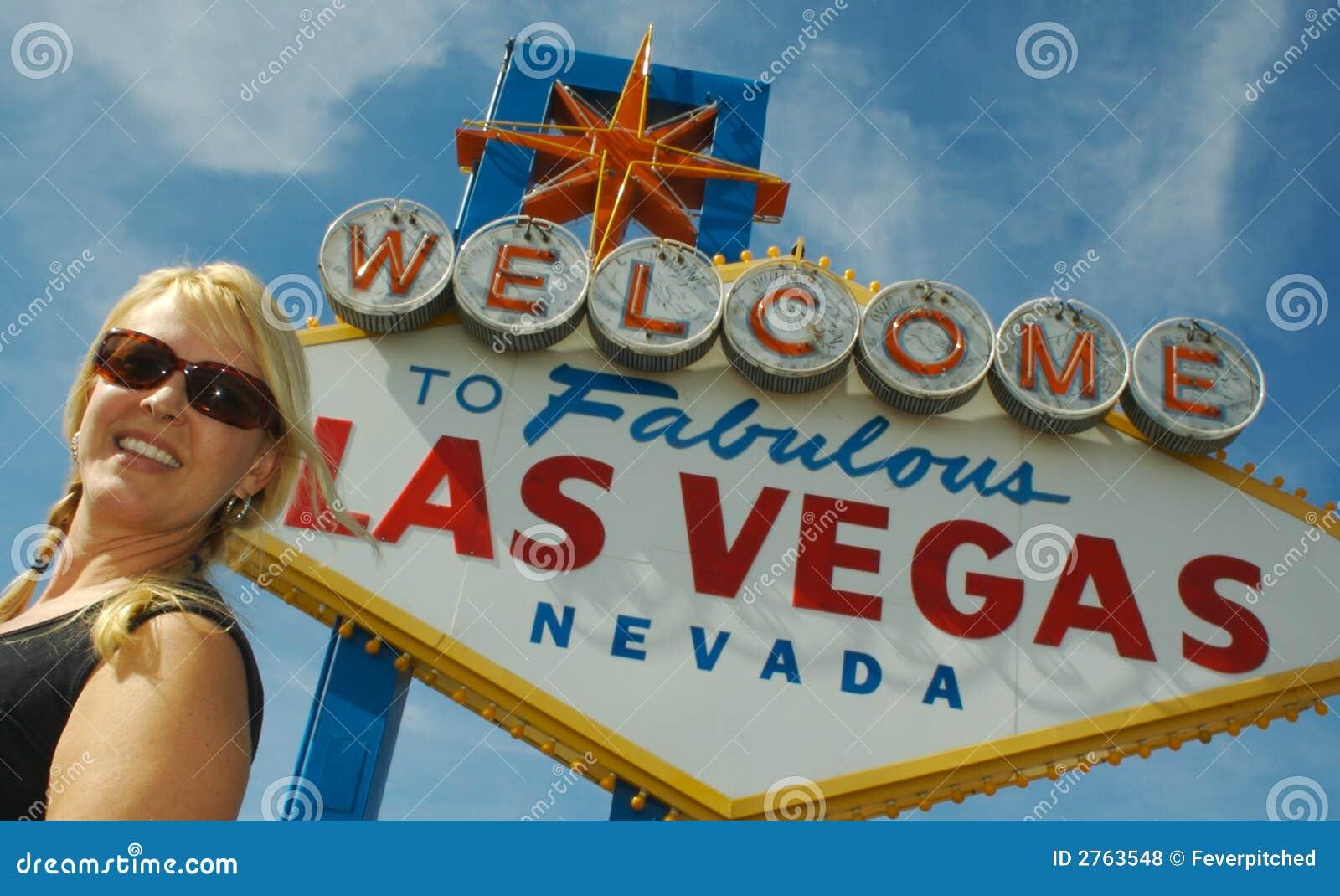 Het Teken van Vegas van Las & Gelukkige Toerist