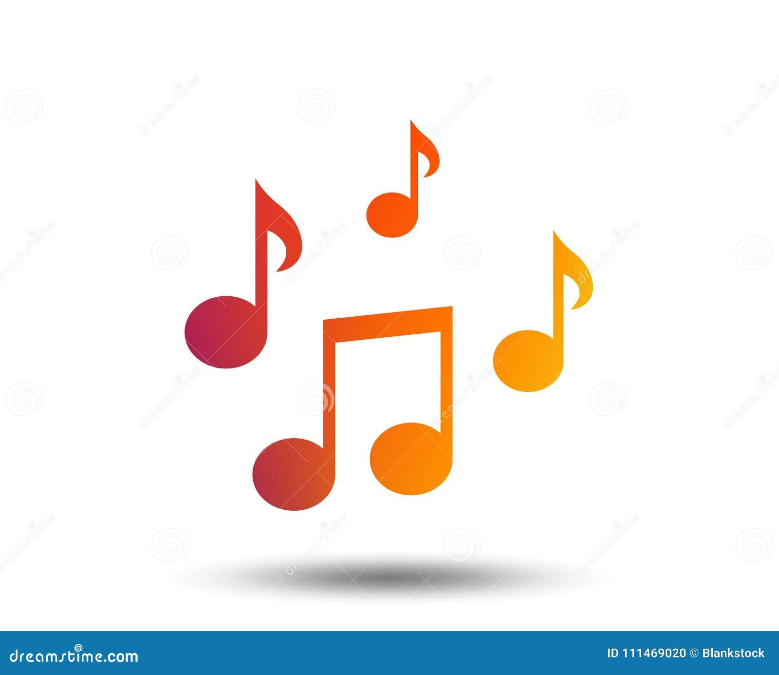 Het tekenpictogram van muzieknota s Muzikaal symbool