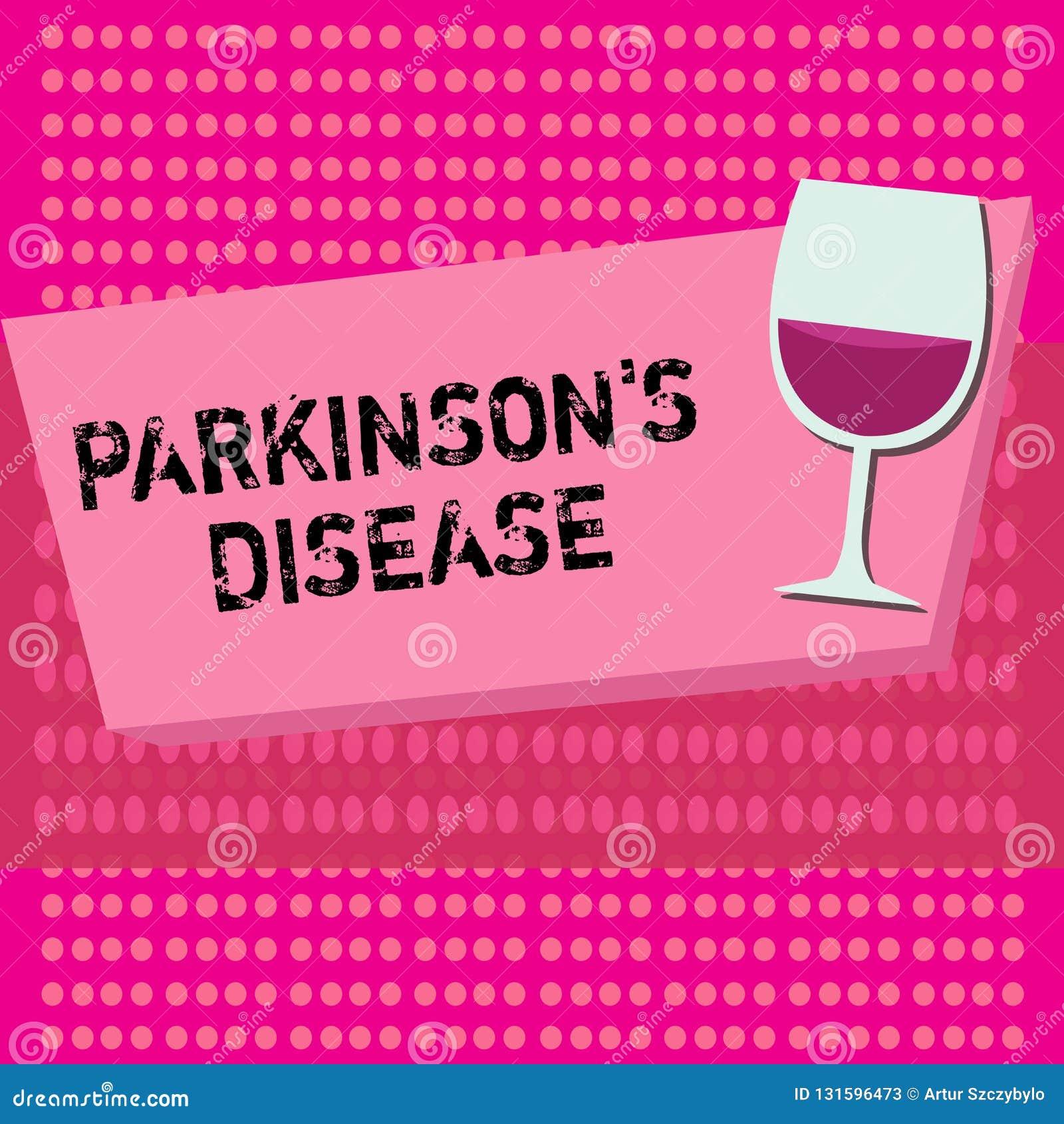Het tekstteken die Parkinson s tonen is Ziekte De conceptuele wanorde van het foto zenuwstelsel die beweging beïnvloedt