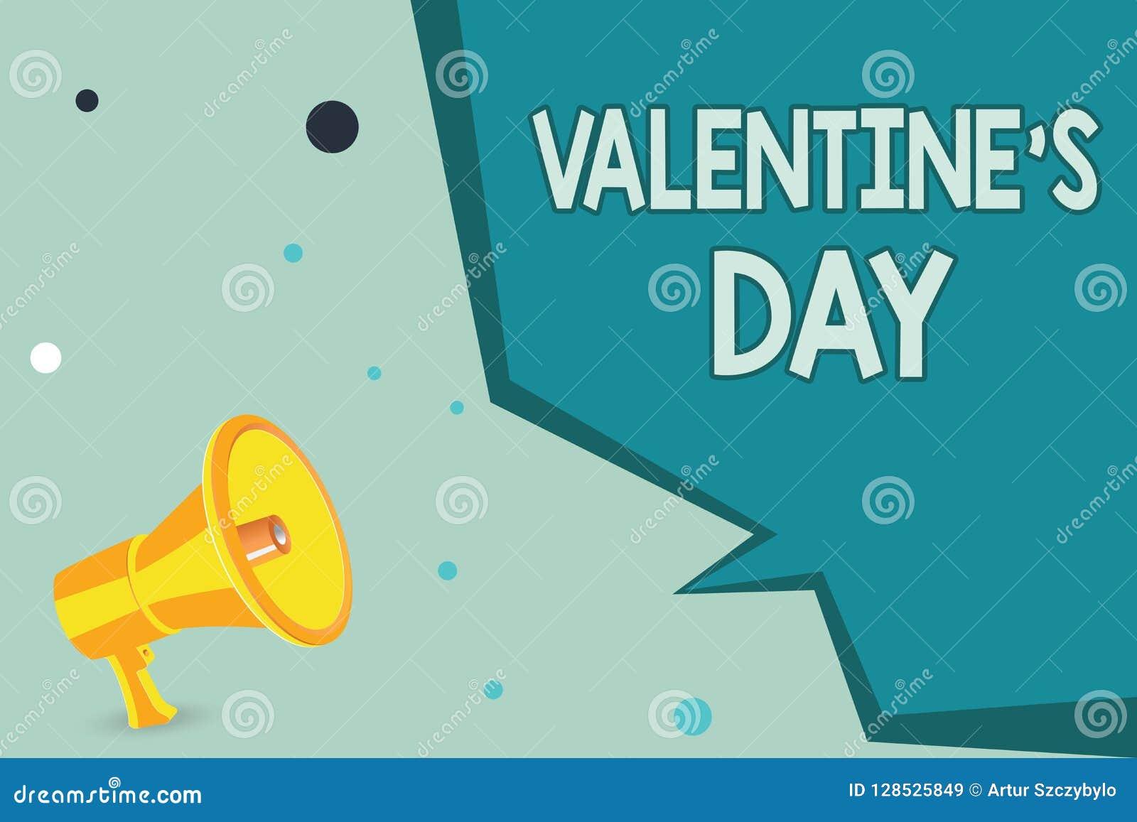 Het tekstteken die Valentine s tonen is Dag Conceptuele fototijd wanneer de mensen gevoel van liefde en affectie tonen
