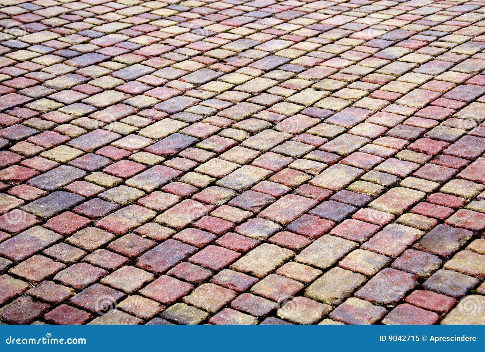Het terras van de baksteen stock afbeelding. afbeelding bestaande