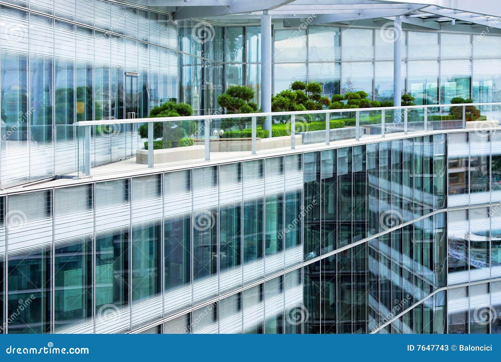 Het terras van de penthouse stock afbeelding afbeelding