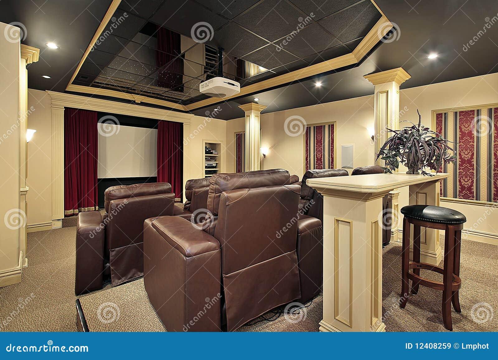 Het theater van het huis met colums