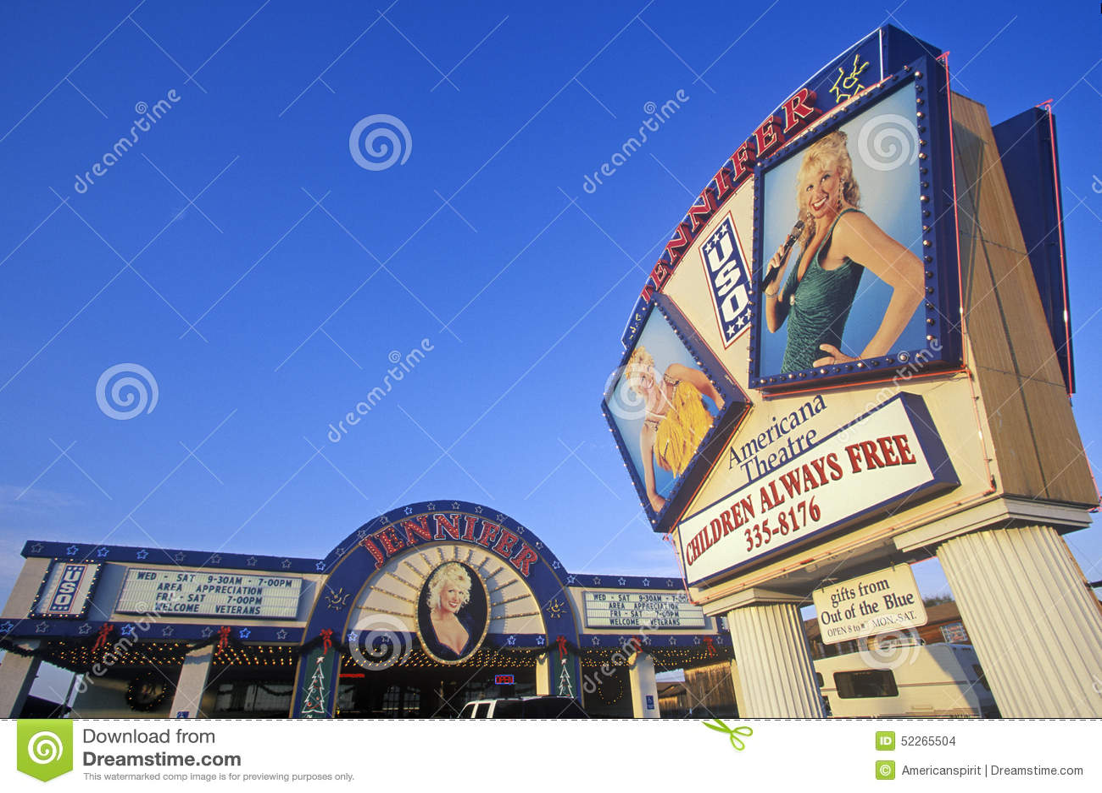 Het Theater van Jennifer USO, Ozark Mountain Entertainment Center, Branson, MO