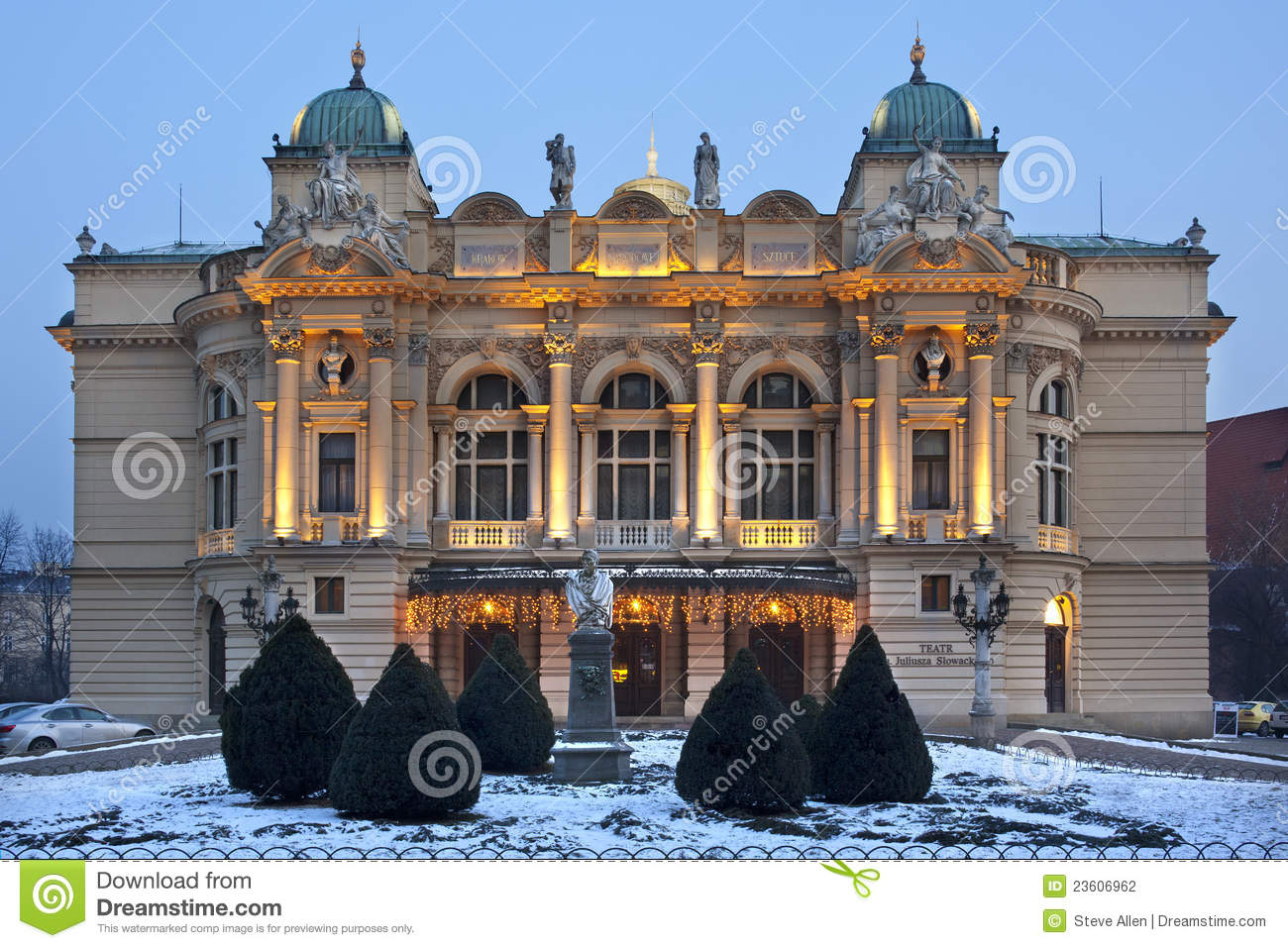 het theater van slowacki krakau polen stock foto afbeelding 23606962. Black Bedroom Furniture Sets. Home Design Ideas