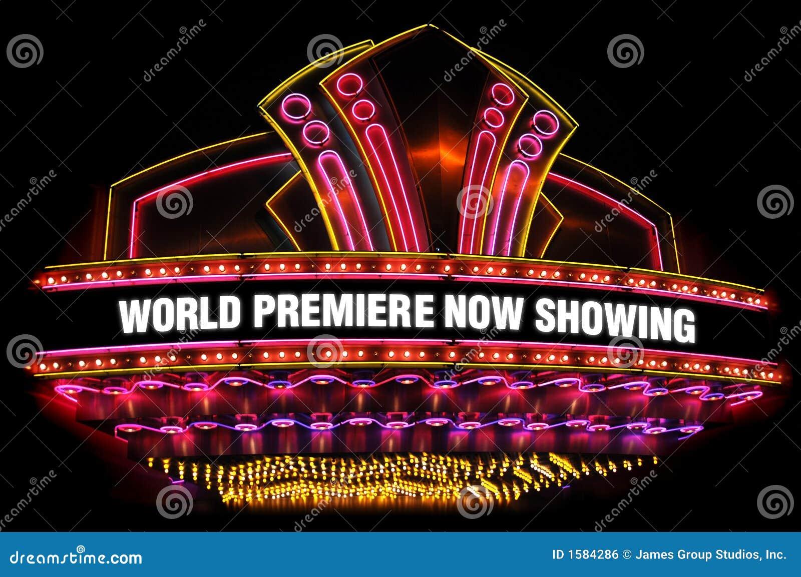 Het theatermarkttent van de film