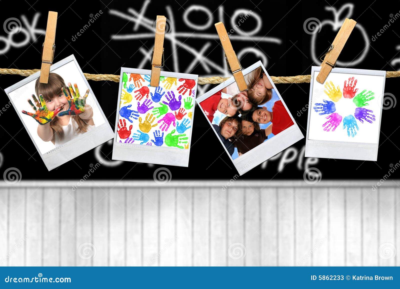 Het Thema van de Leeftijd van de school van Kinderen en Jonge geitjes