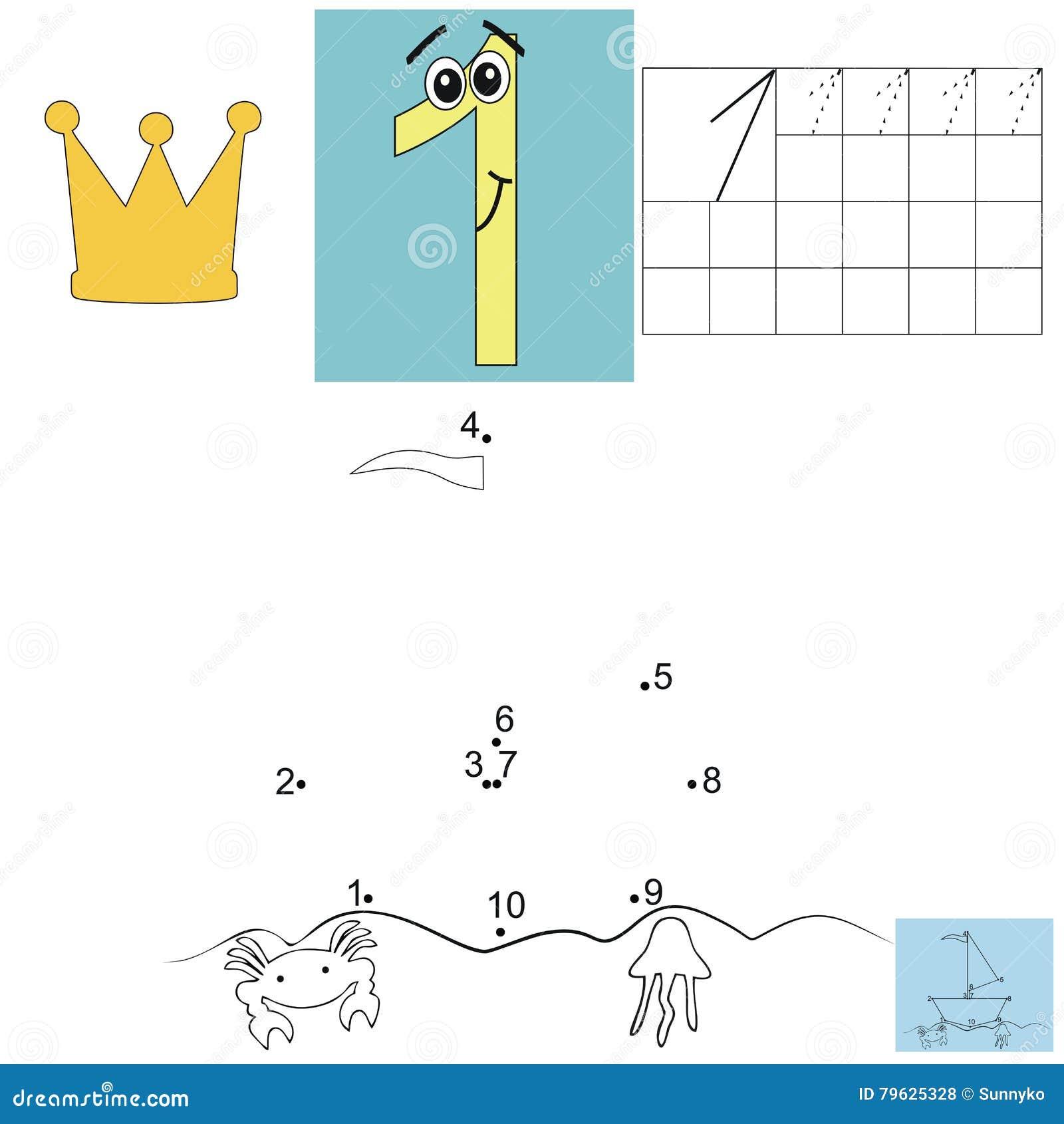 Het thuiswerk van de kinderens wiskunde Cijfer  Puntenschip