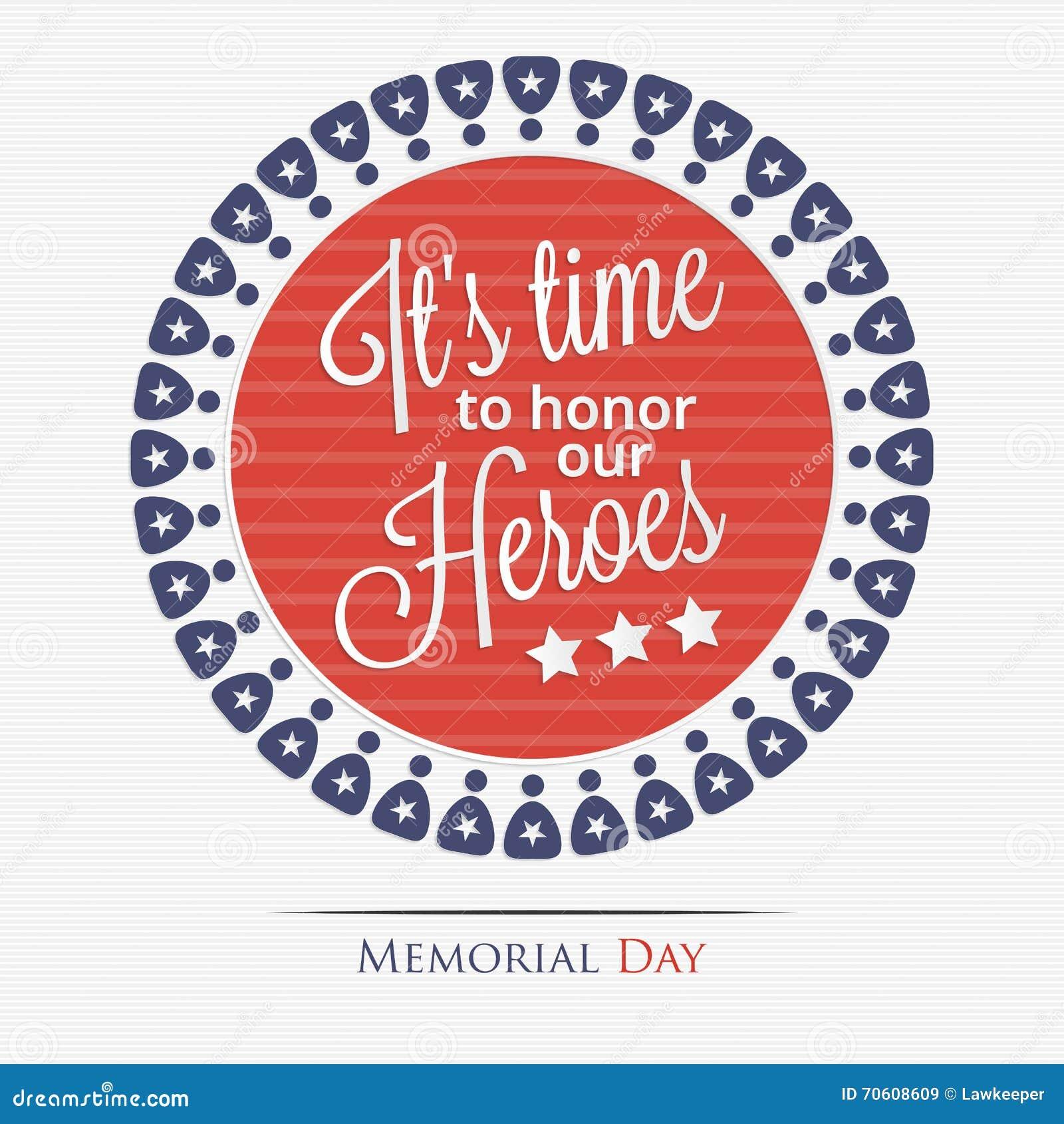Het is tijd om onze helden te eren