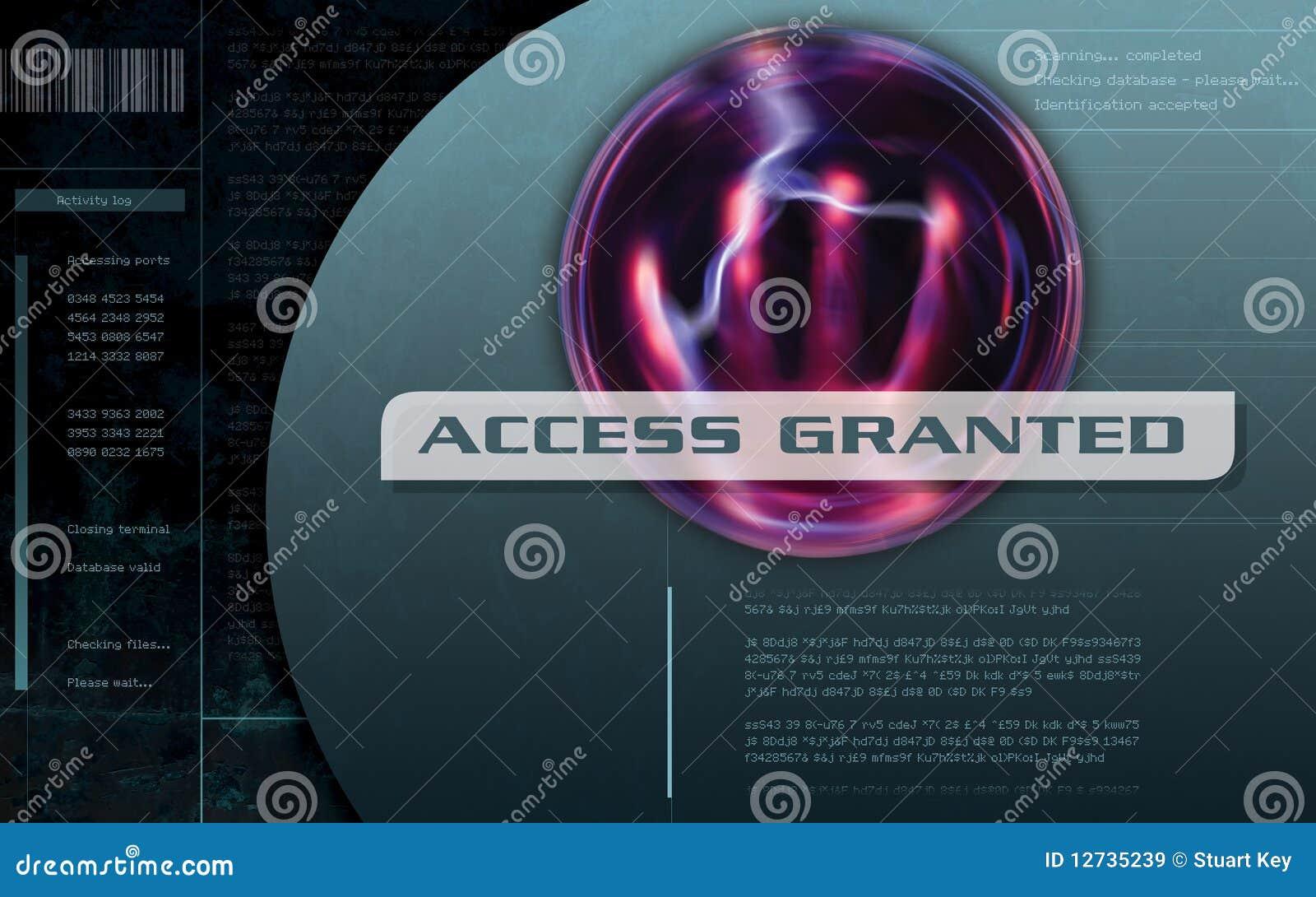 Het toegang Verleende scherm van de Computer