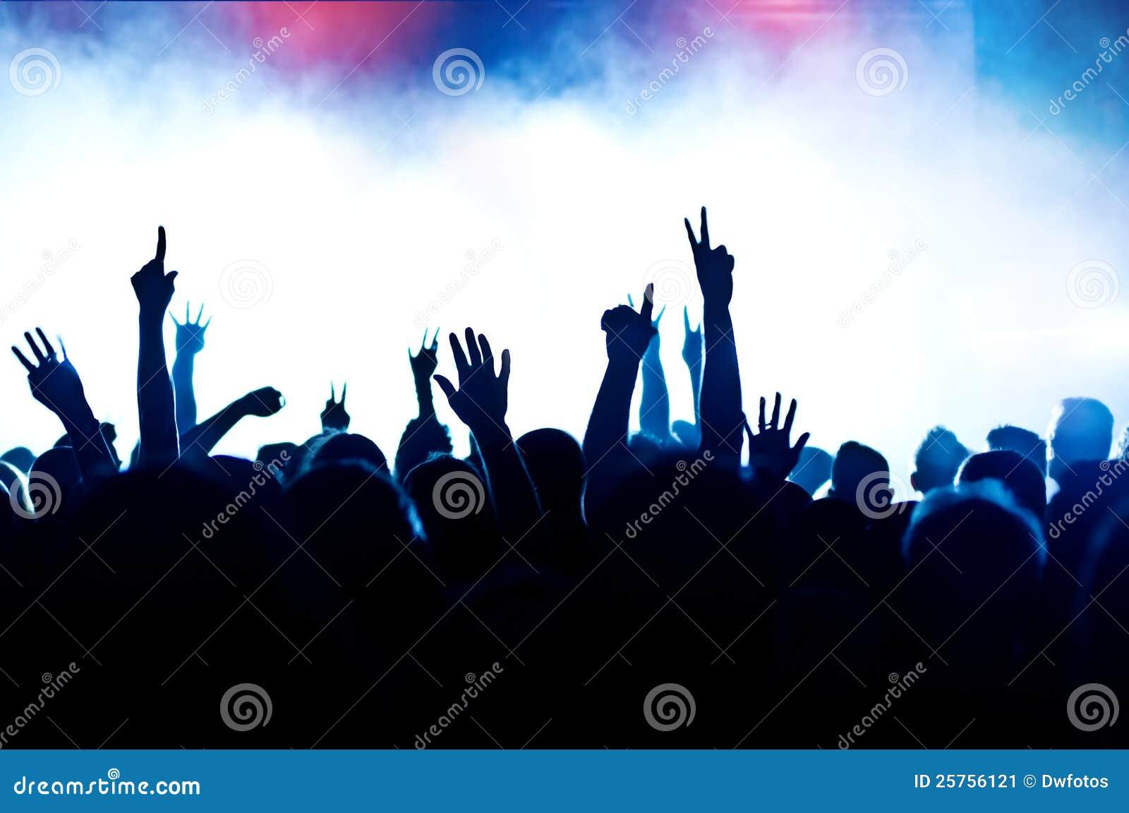 Het toejuichen menigte