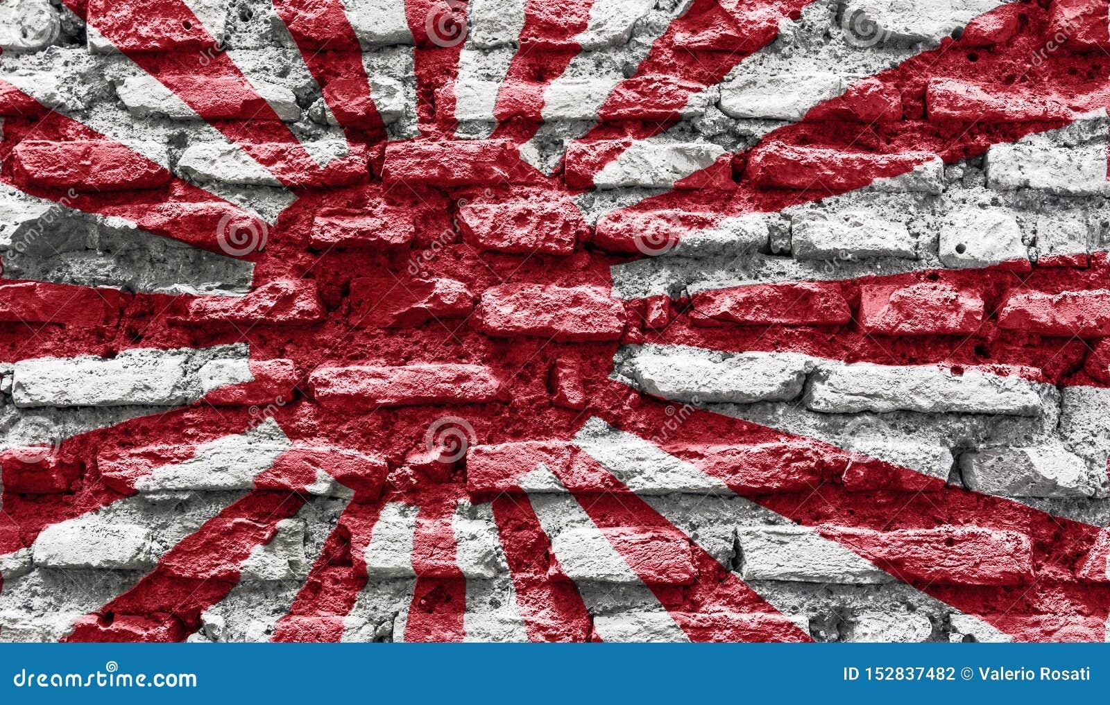 Het toenemen van Japan zon oude muur