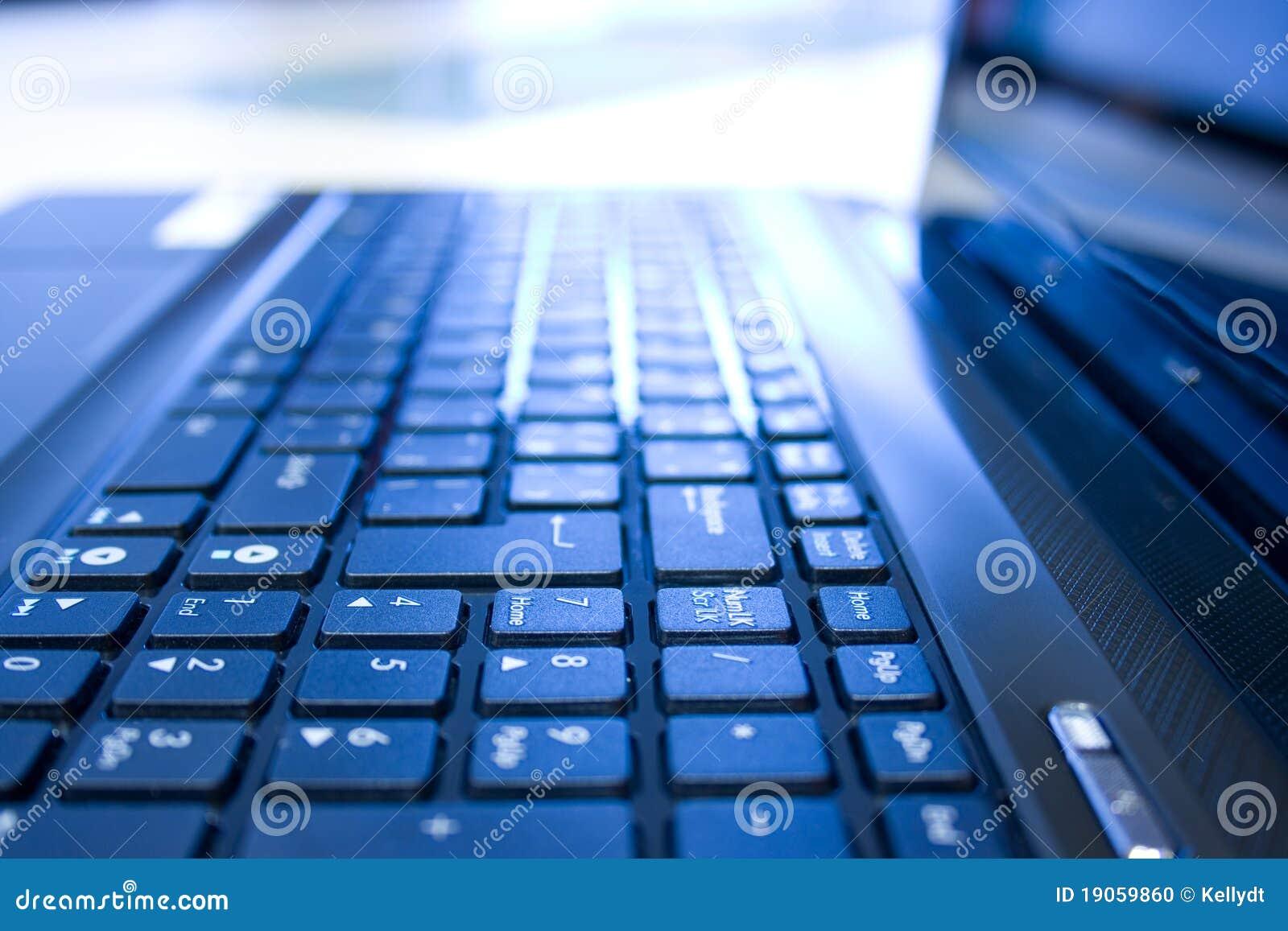 Het toetsenbord van het notitieboekje